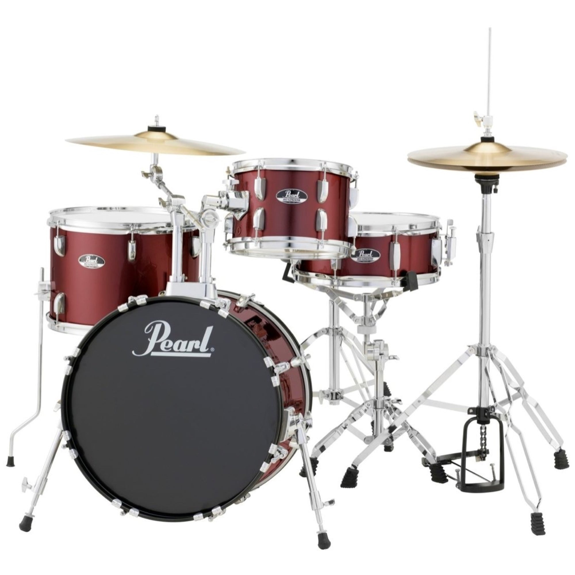 Pearl RS584C Roadshow Complete Bop Drum Kit, 4-Piece, Wine Red