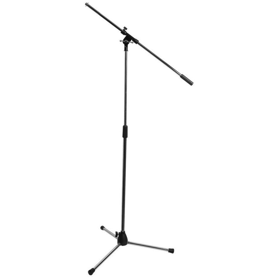 On-Stage 7701 Tripod Microphone Boom Stand, Chrome, 7701C