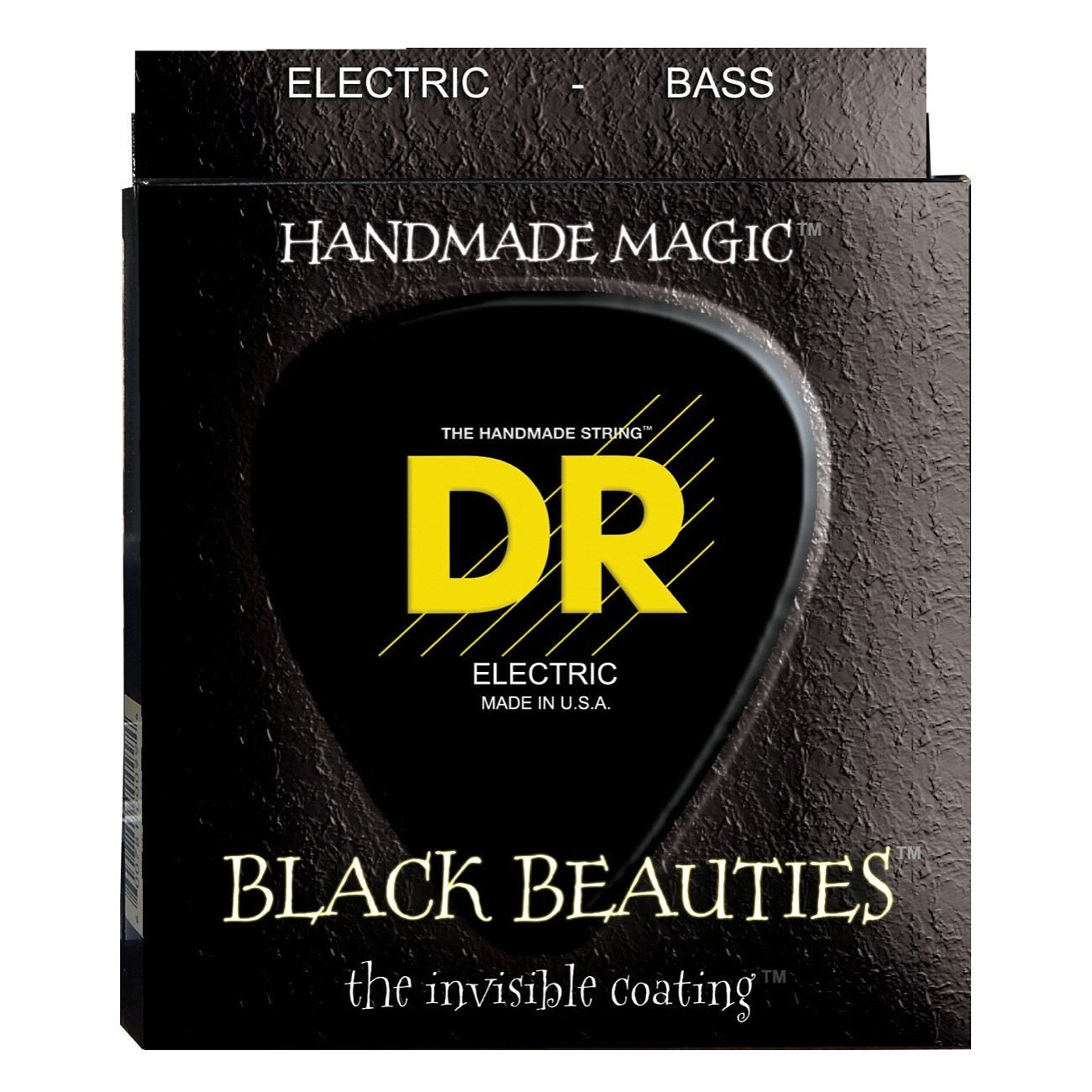 DR Strings BKB545 Black Beauties 5-String Electric Bass Strings (Medium, 45-125), BKB-545, Medium, 45-125