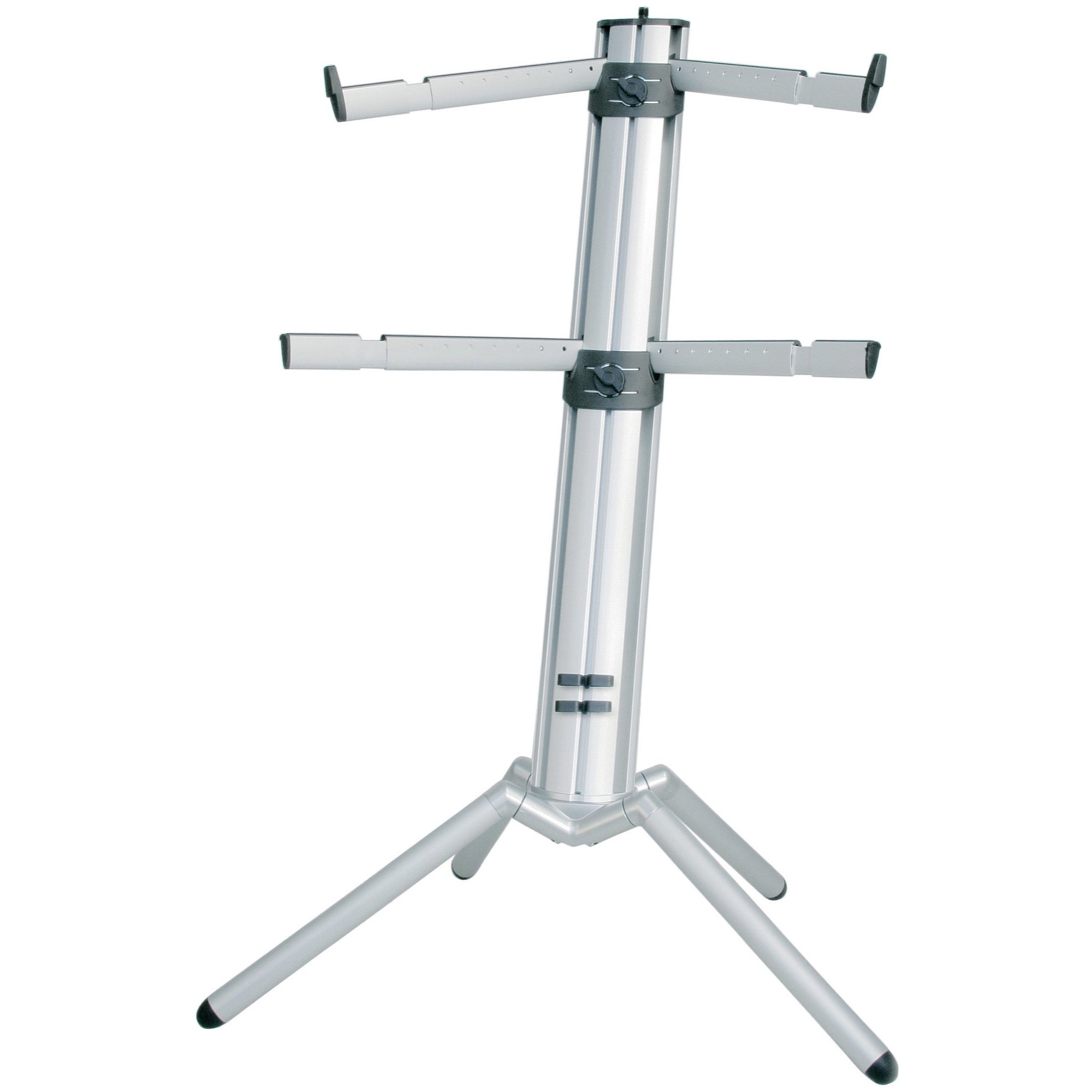 K&M Spider Pro Double-Tier Keyboard Stand, Silver