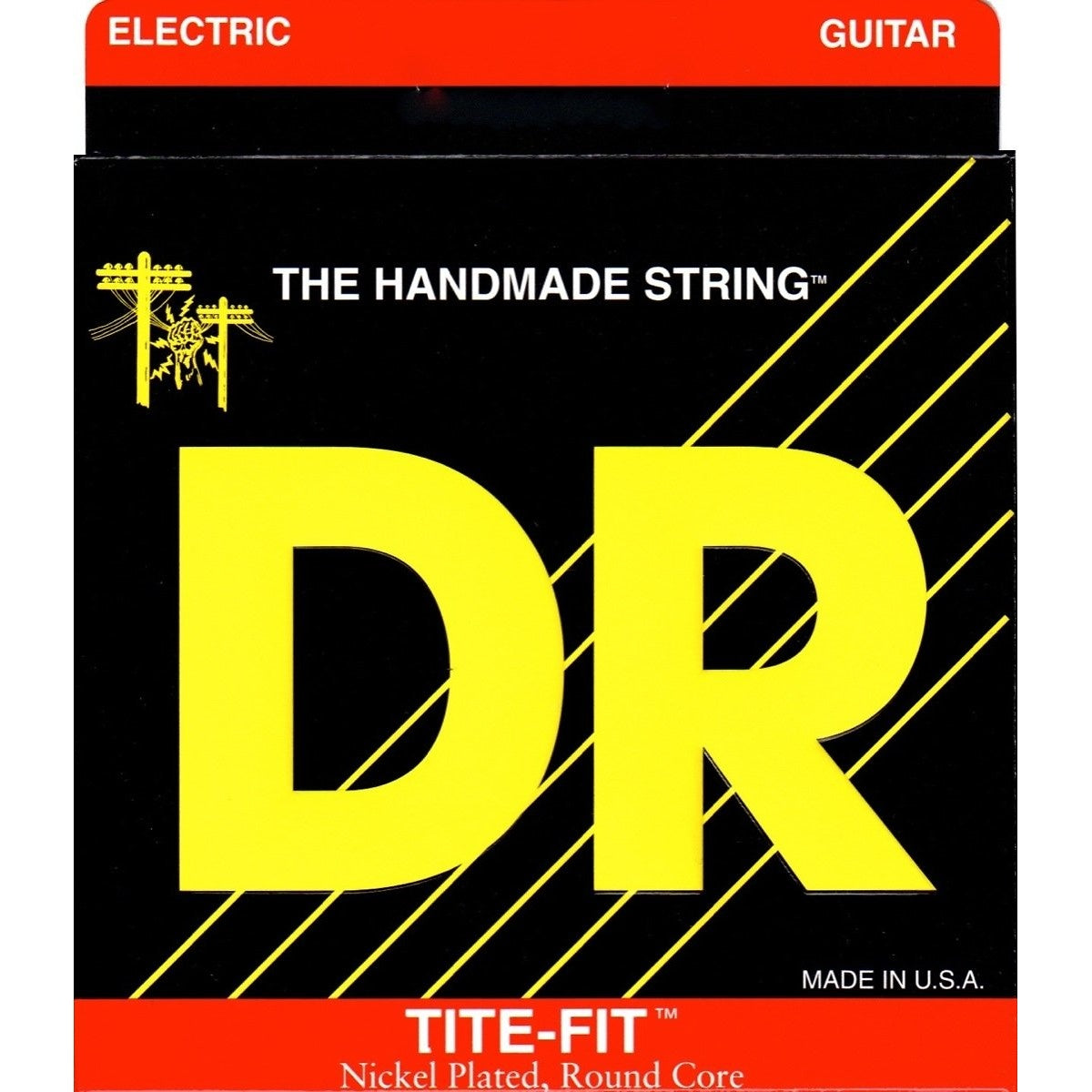 DR Strings Tite-Fit Electric Guitar Strings, MH-10, Medium-Heavy, 10-50