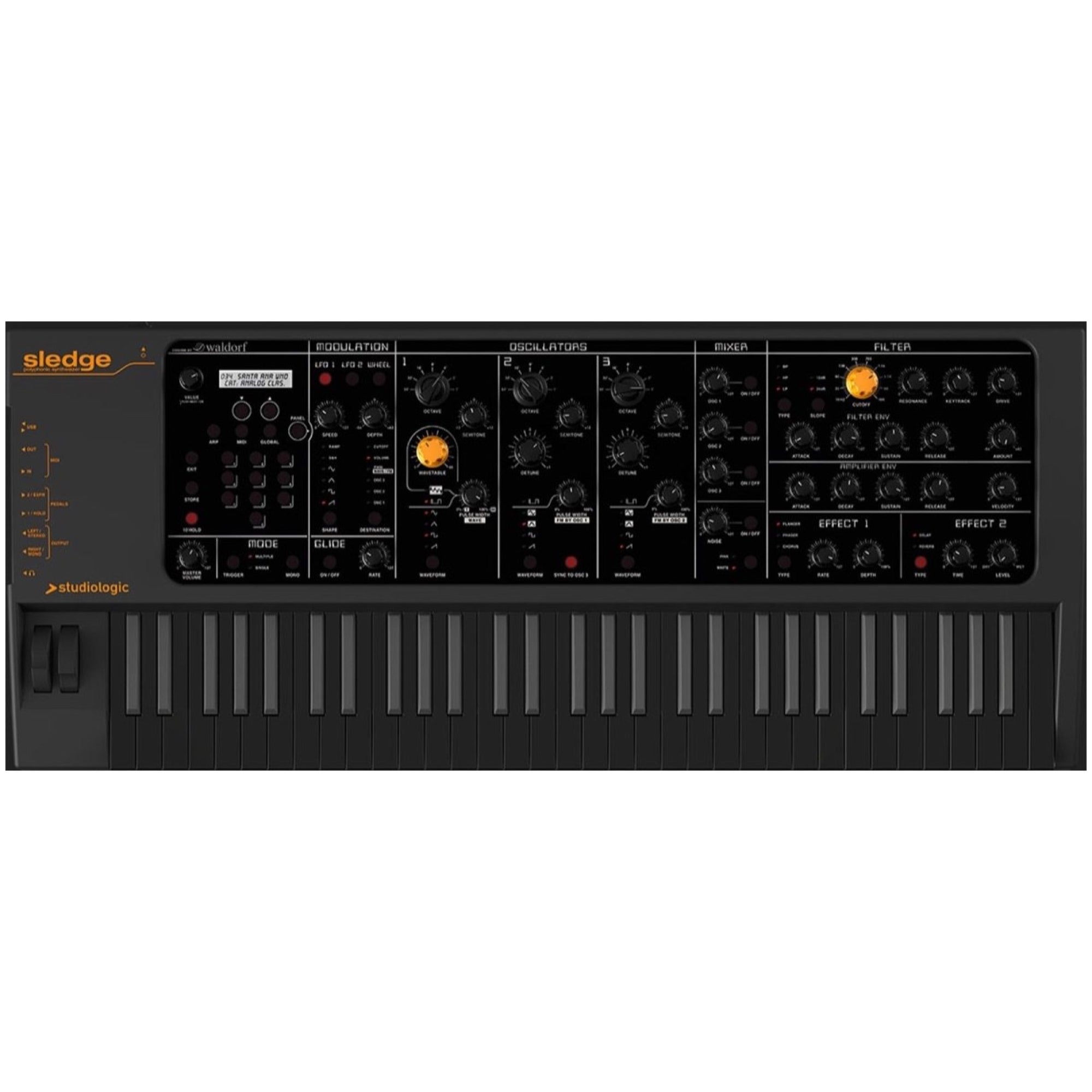 Studiologic Sledge 2 Black Edition Synthesizer