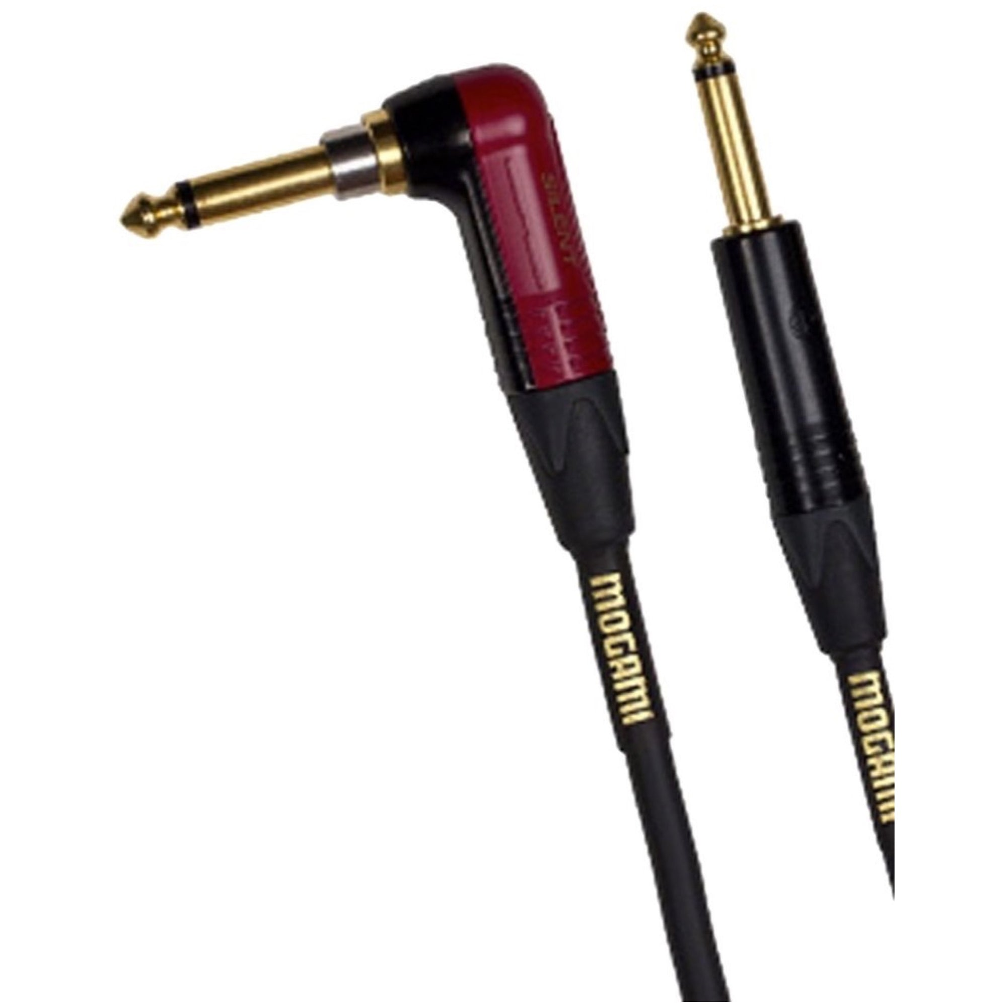 Mogami Gold Instrument Silent R Cable (Straight to Right Angle End), 18'