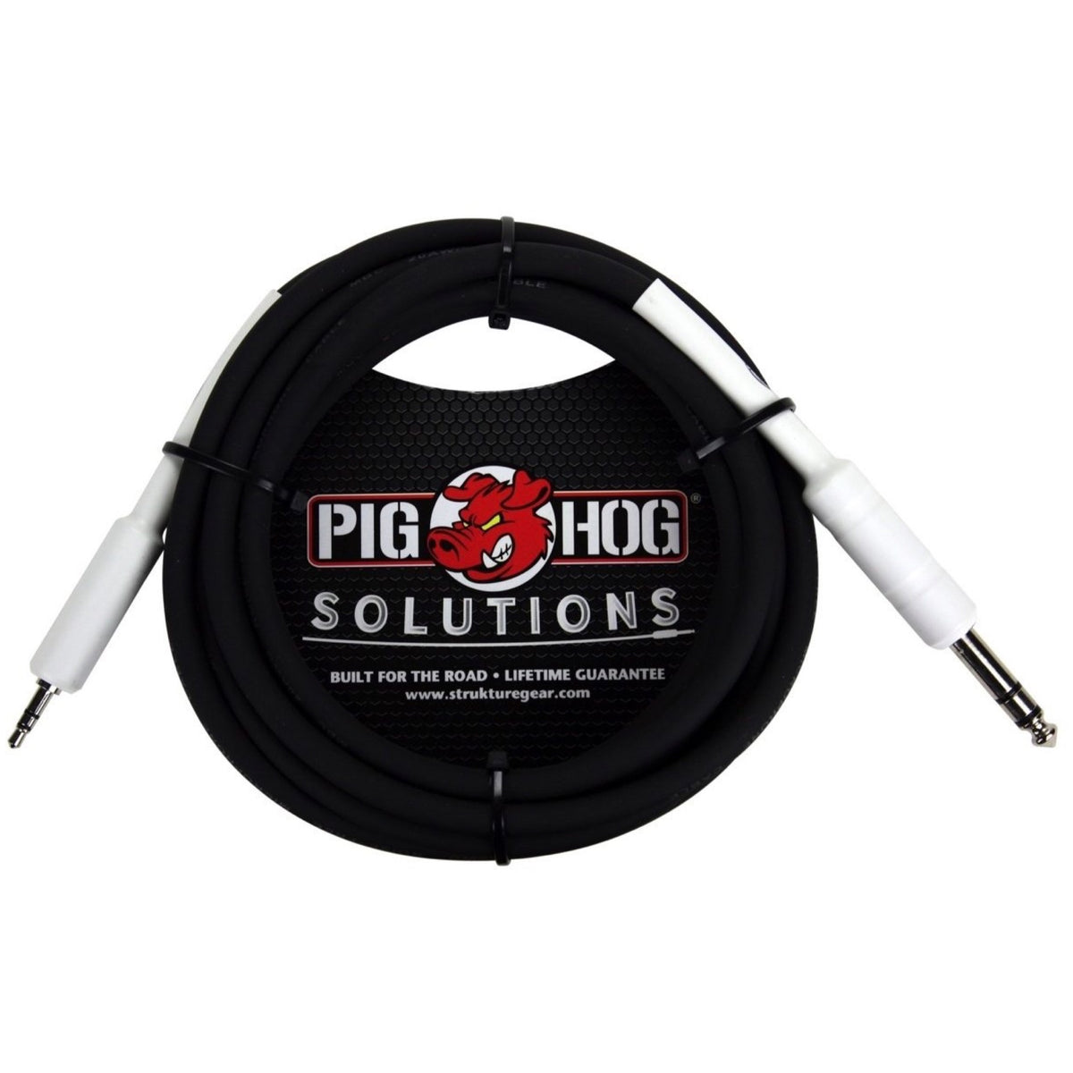 Pig Hog PX48J6 1/4 Inch TRS (Male) to 3.5mm (Male) Adaptor Cable, 6 Foot