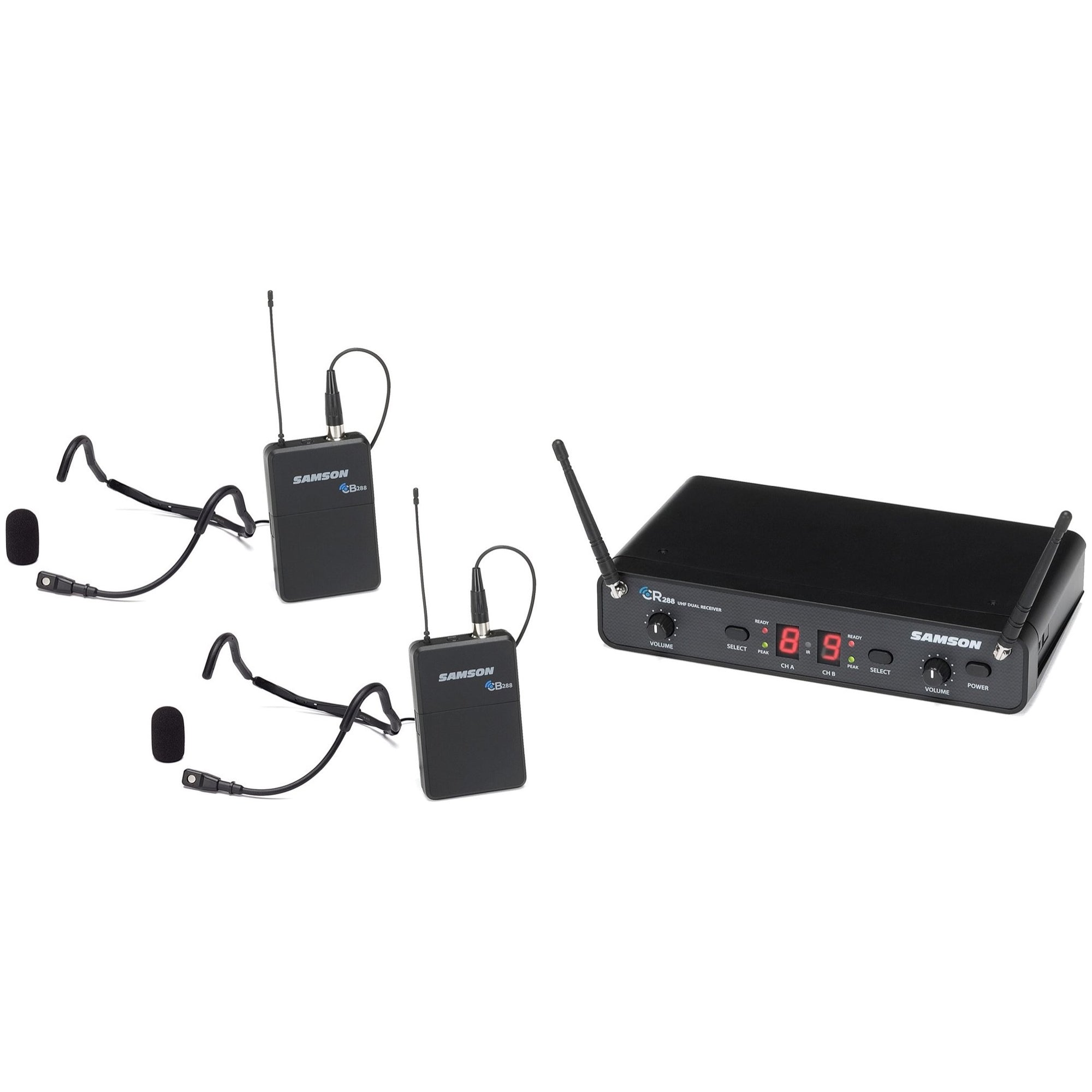 Samson Concert 288 Dual QE Fitness Wireless Headset Microphone System