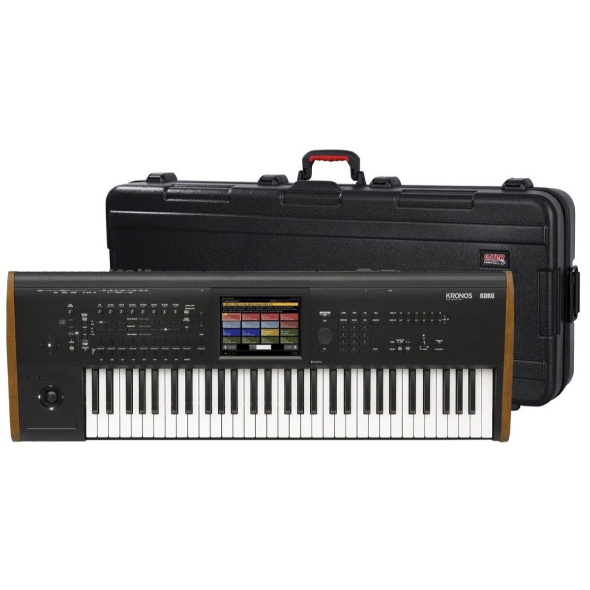 Korg Kronos 8 Music Workstation Keyboard, 88-Key, Black, with Gator Case