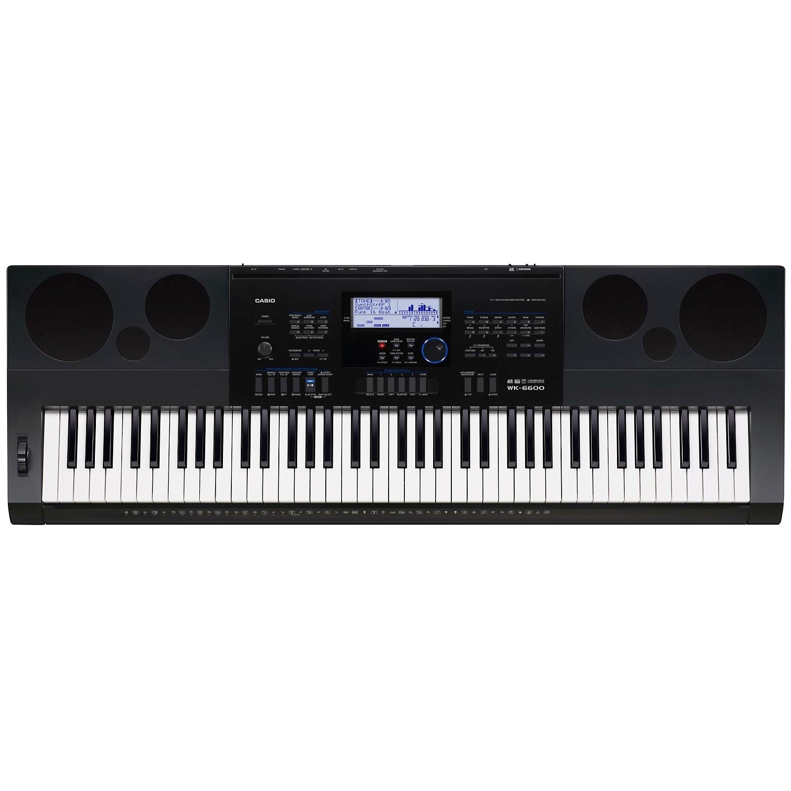 Casio WK-6600 Electronic Keyboard, 76-Key