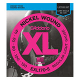 Load image into Gallery viewer, D'Addario EXL1705 XL 5-String Nickel Wound Bass Strings (Regular Light, Long)