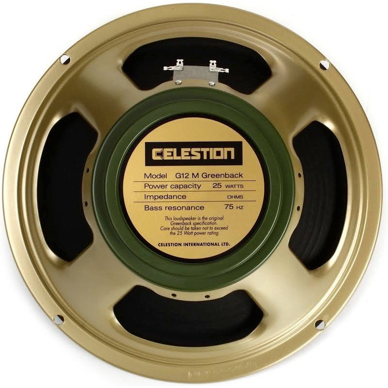 Celestion G12M Greenback Classic Series Guitar Speaker (25 Watts, 12 Inch), 16 Ohms