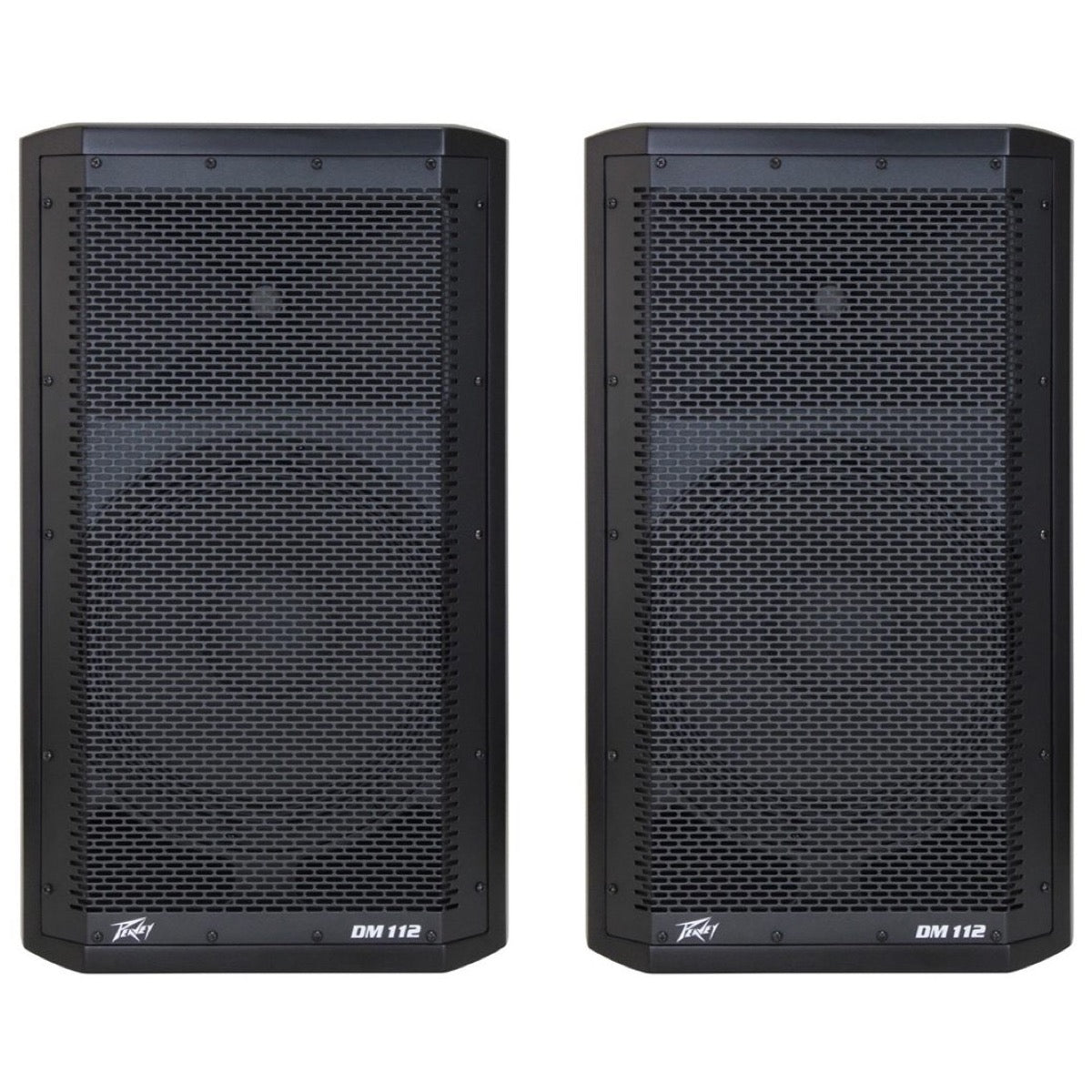 Peavey DM-112 Dark Matter Powered PA Speaker (500 Watts, 1x12 Inch), Pair