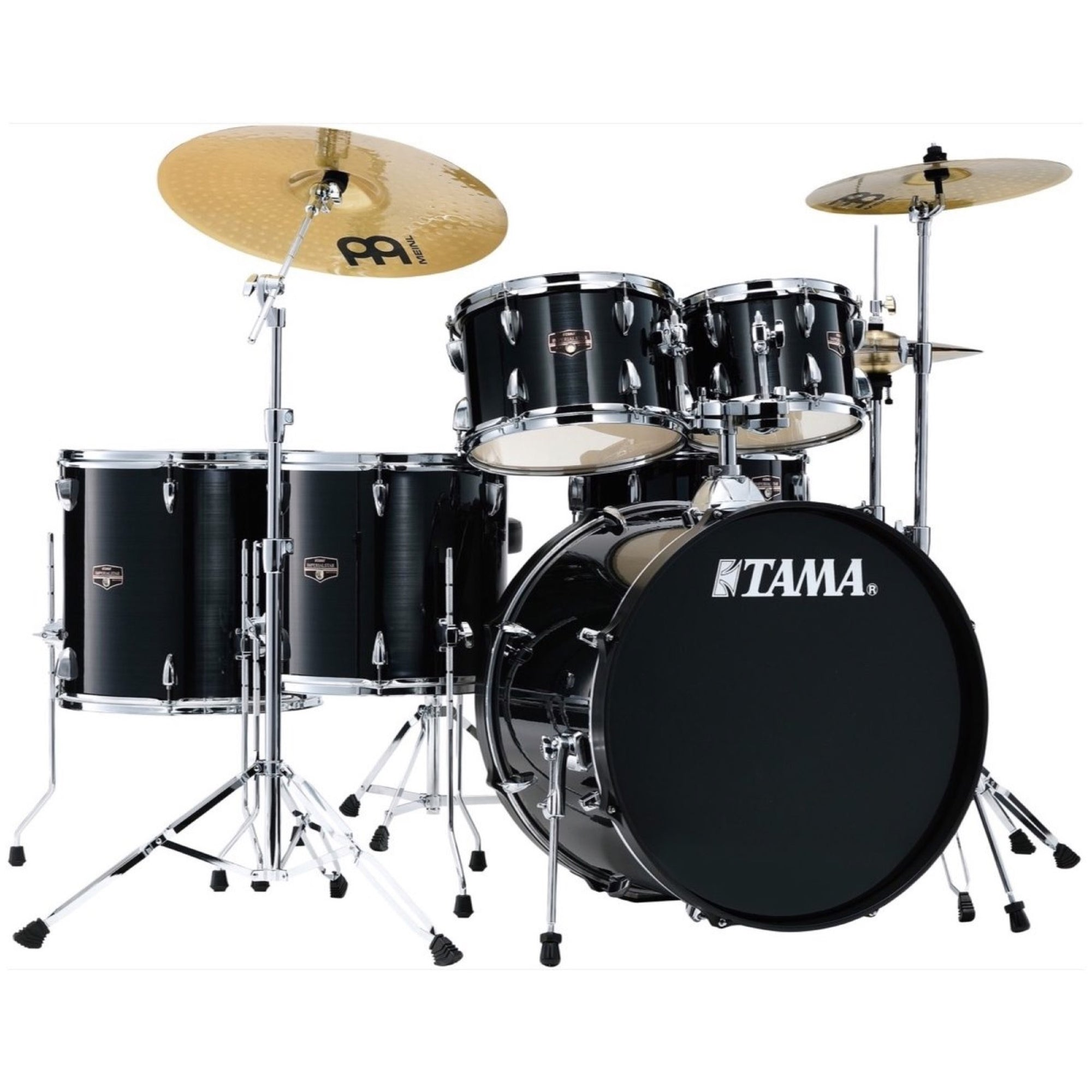 Tama IE62C Imperialstar Drum Kit, 6-Piece (with Meinl Cymbals), Hairline Black