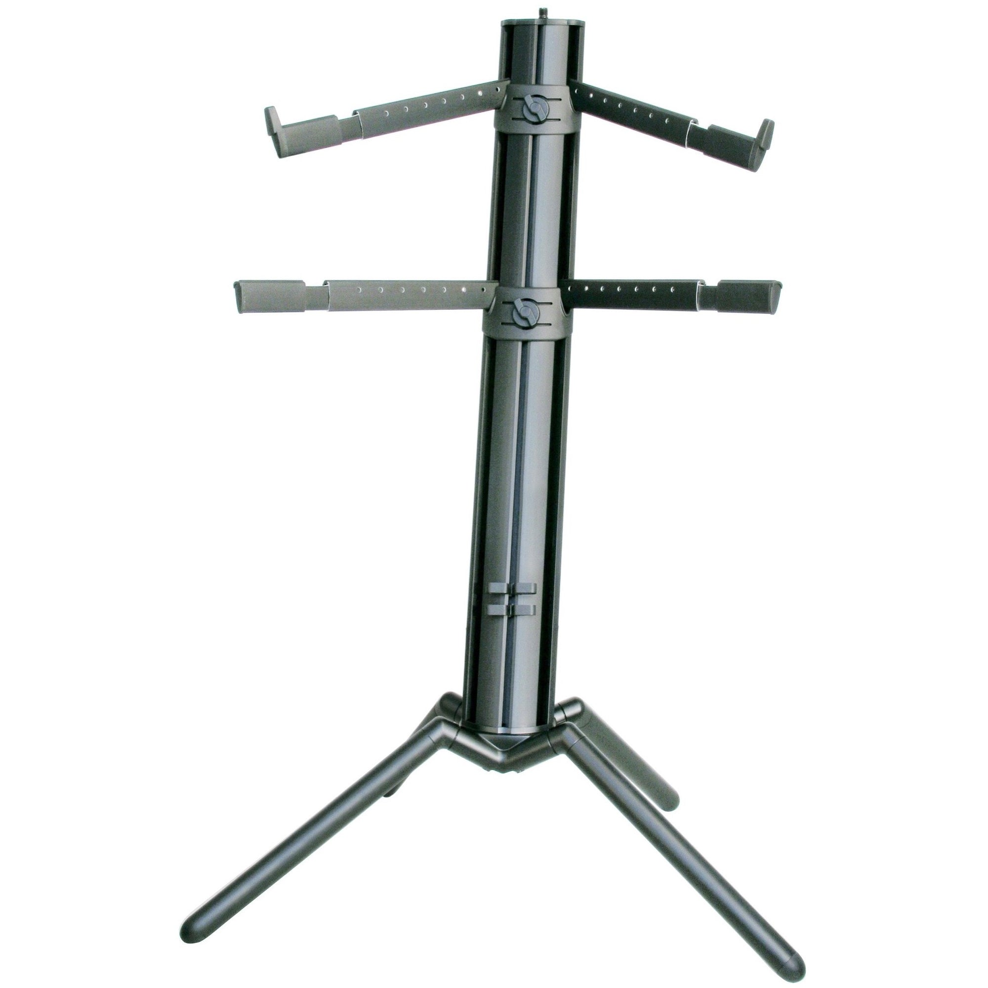 K&M Spider Pro Double-Tier Keyboard Stand, Black