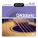 Load image into Gallery viewer, D'Addario EXP Coated Phosphor Bronze Acoustic Guitar Strings, EXP26, Custom Light