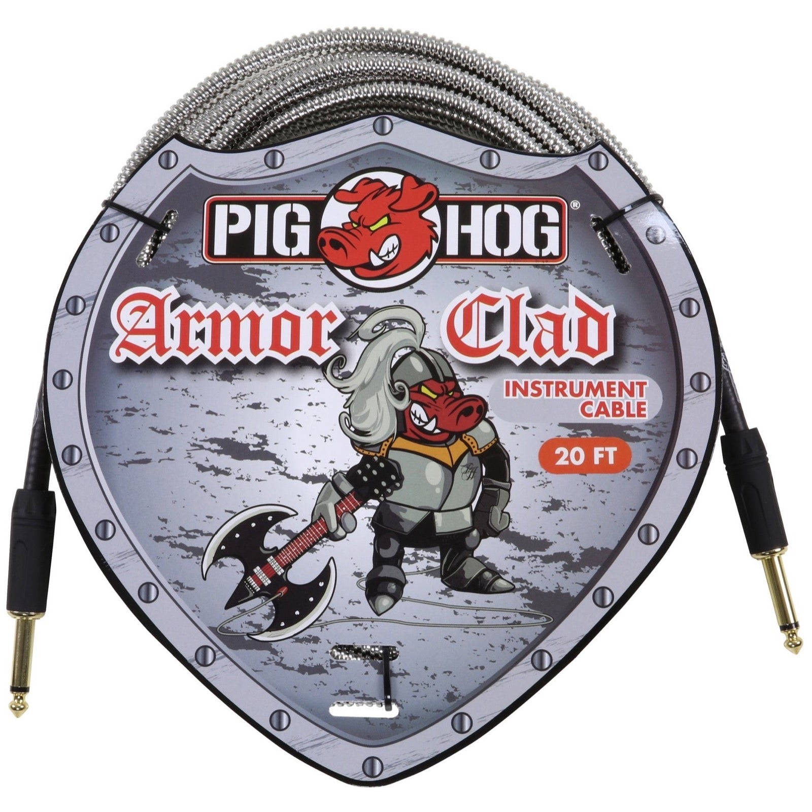 Pig Hog Armor Clad Instrument Cable, 20'