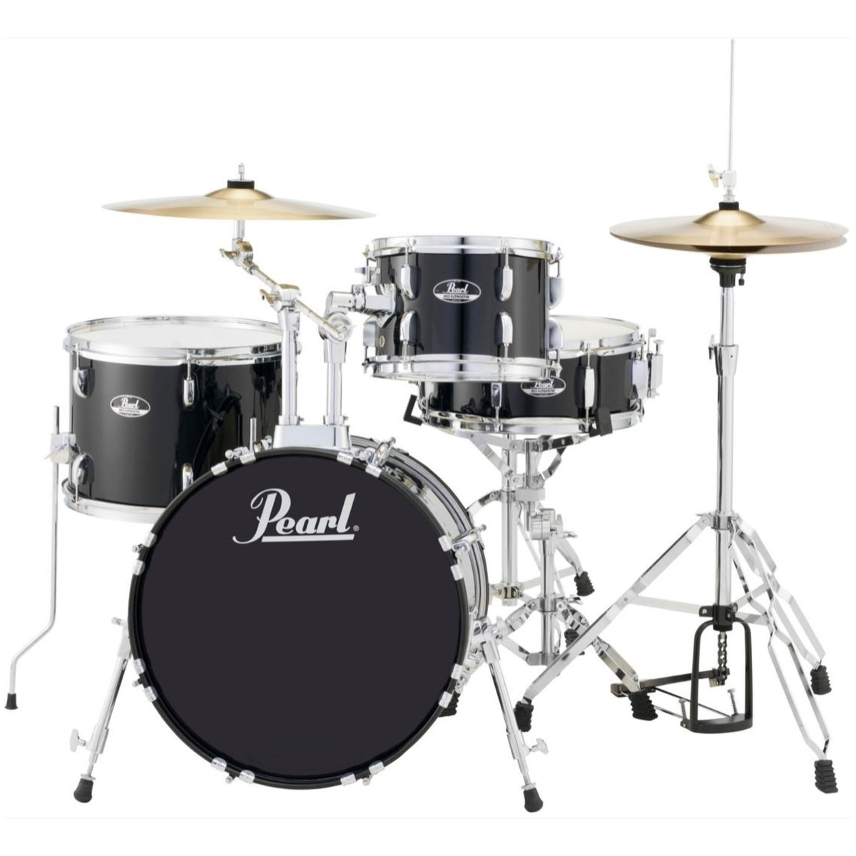 Pearl RS584C Roadshow Complete Bop Drum Kit, 4-Piece, Black