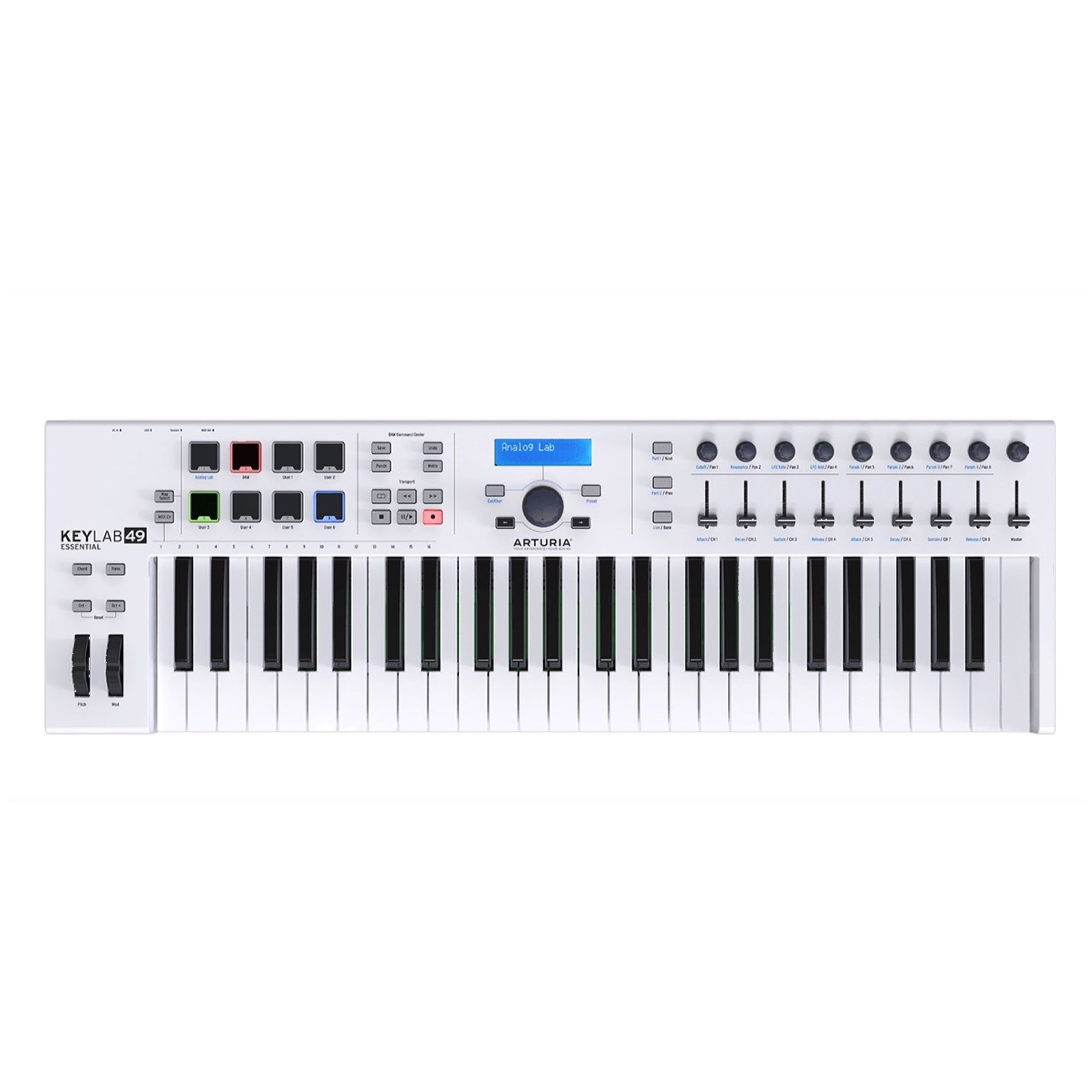 Arturia Keylab 49 Essential Keyboard Controller, 49-Key, White