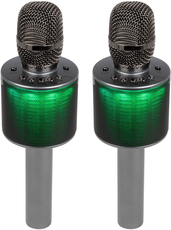 VocoPro Pop-Up Oke All-In-One Wireless Karaoke Microphone, Dual
