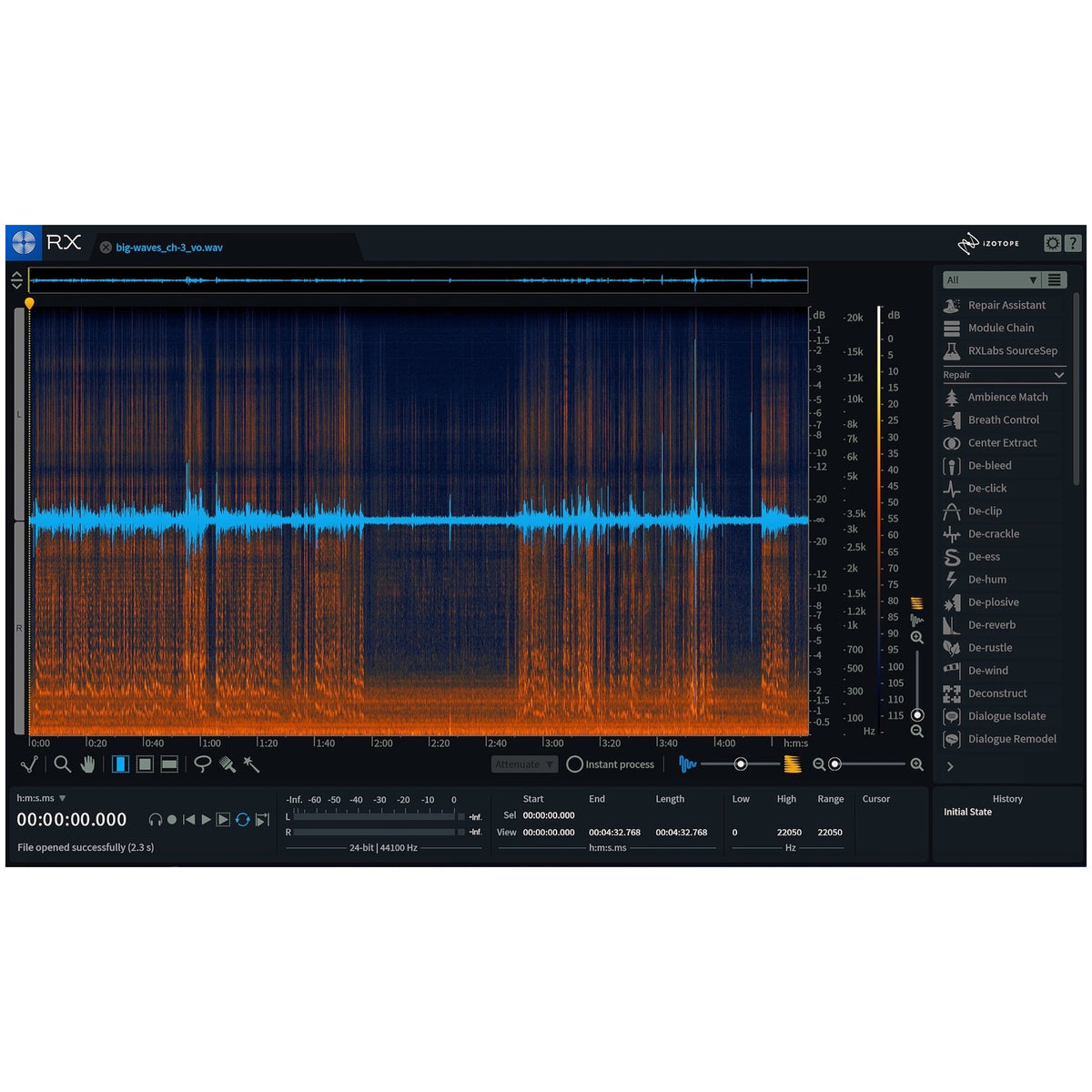 iZotope RX 7 Advanced Audio Restoration Software