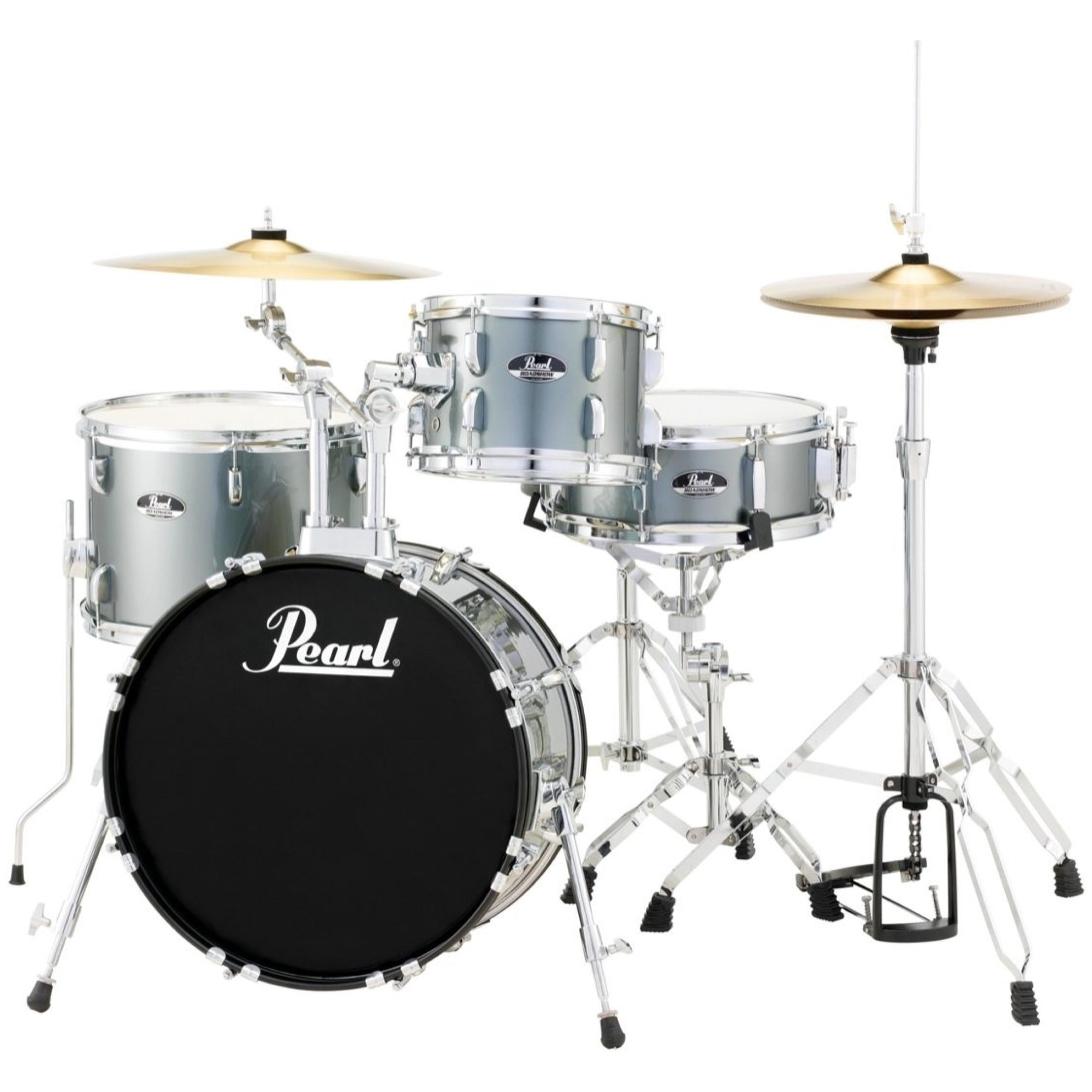 Pearl RS584C Roadshow Complete Bop Drum Kit, 4-Piece, Charcoal Metal