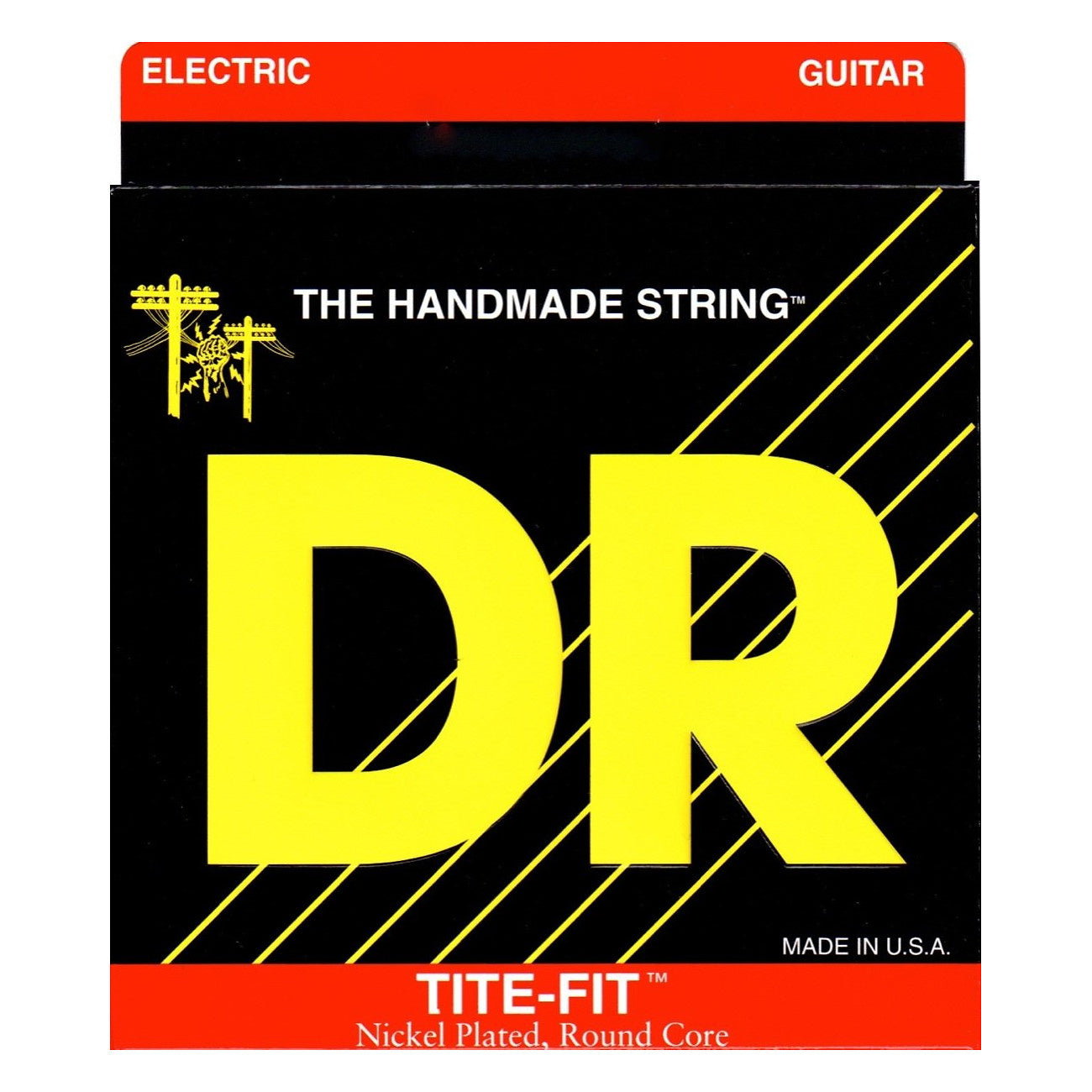 DR Strings Tite-Fit Electric Guitar Strings, MT-10, Medium-Tite, 10-46