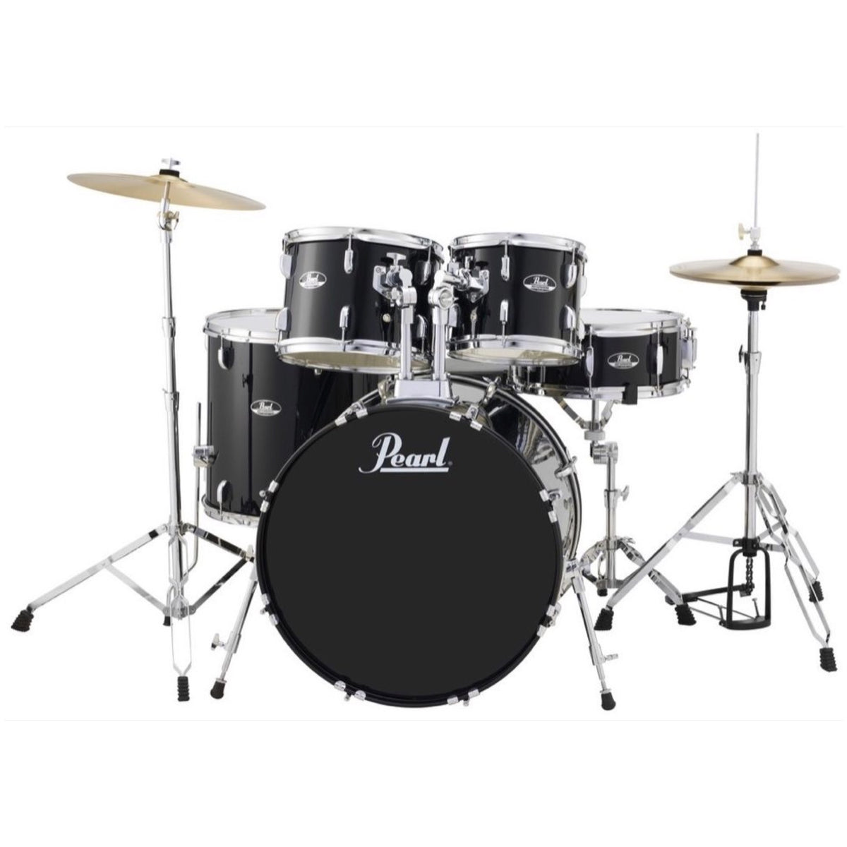 Pearl RS525SC Roadshow Complete Drum Kit, 5-Piece, Black