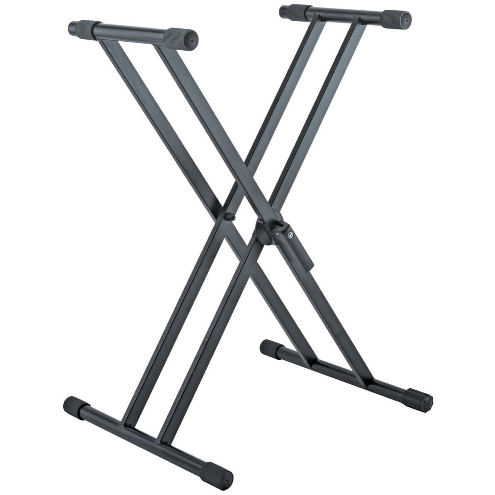K&M 18990 Rick Double X Keyboard Stand, Black