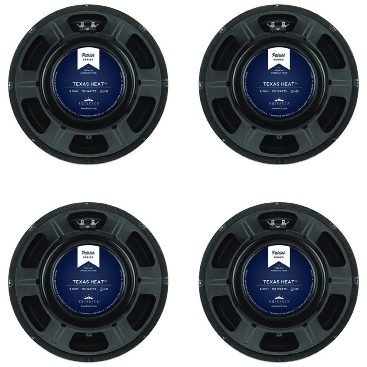 Eminence Texas Heat Patriot Guitar Speaker (150 Watts, 12 Inch), 16 Ohms, 4-Pack