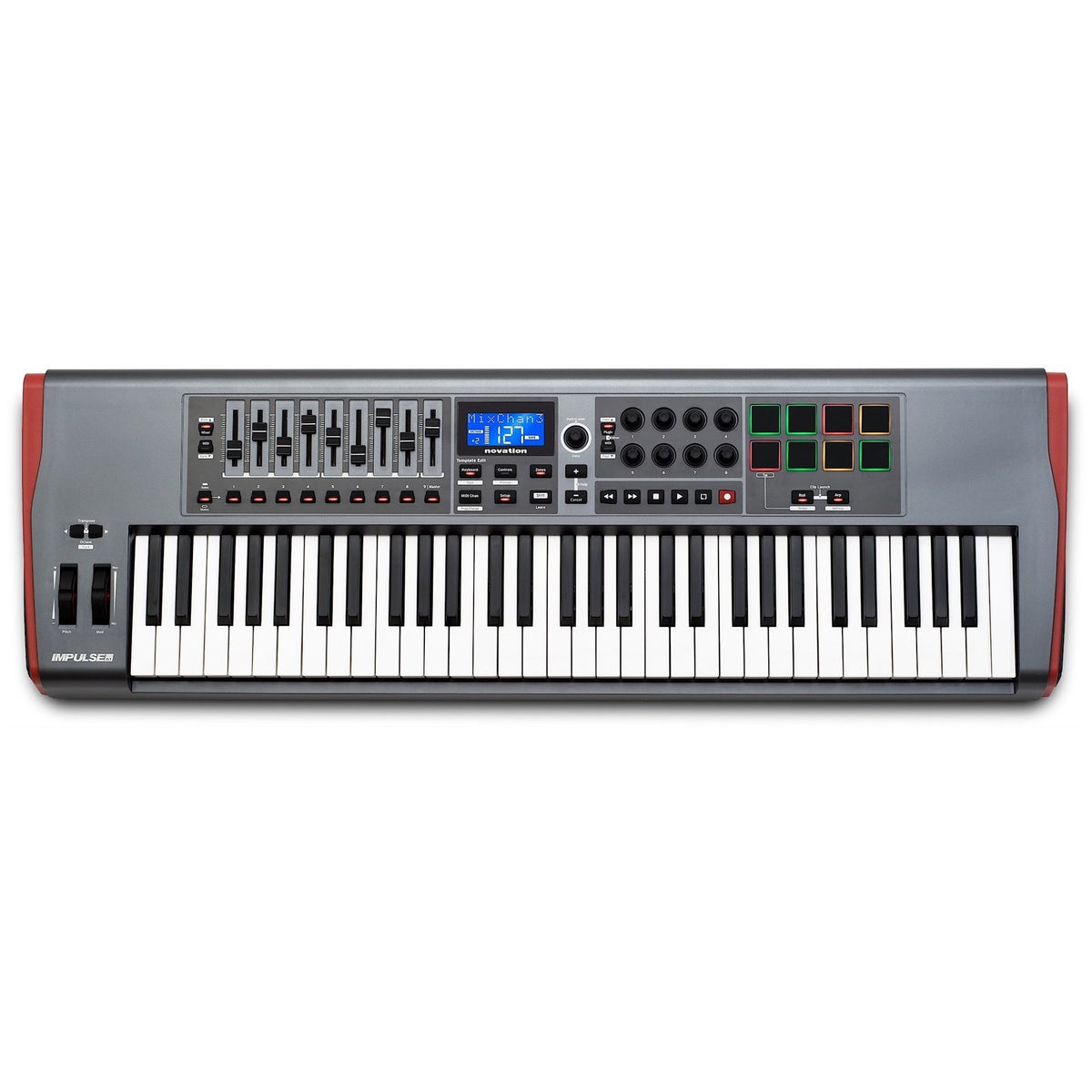 Novation Impulse 61 USB/MIDI Keyboard Controller, 61-Key