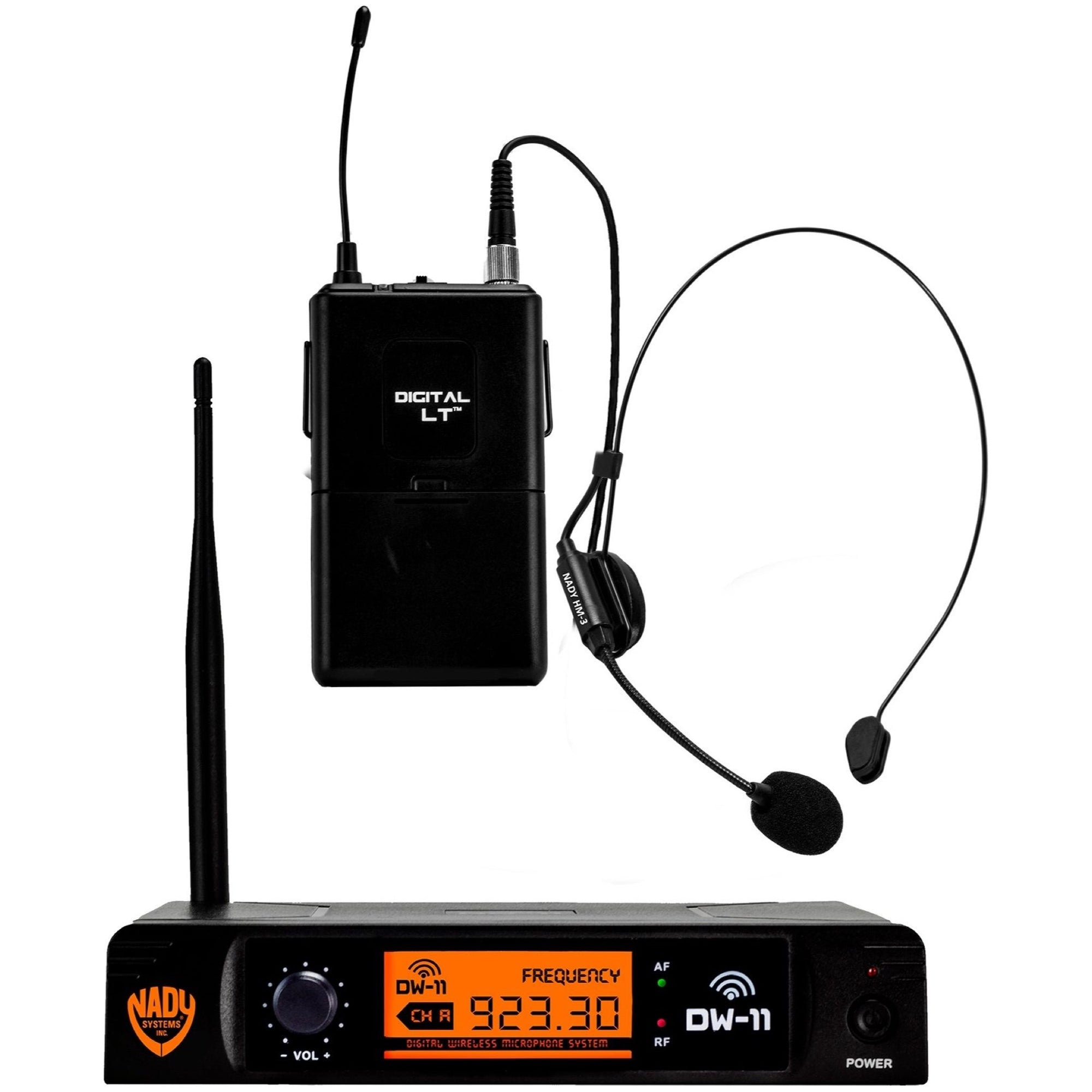 Nady DW-11 Single Transmitter Digital Wireless Headset System, Channel D-12