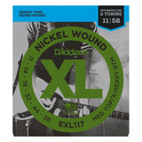 Load image into Gallery viewer, D'Addario EXL Nickel Wound Electric Guitar Strings, EXL117, Medium Top/Xtra Heavy Bottom