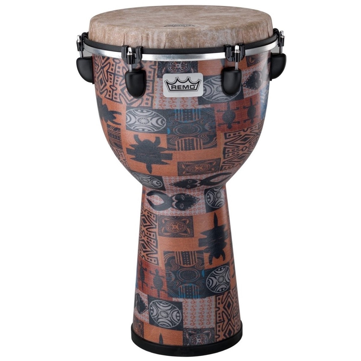 Remo Apex Djembe Drum, Orange, 12 Inch