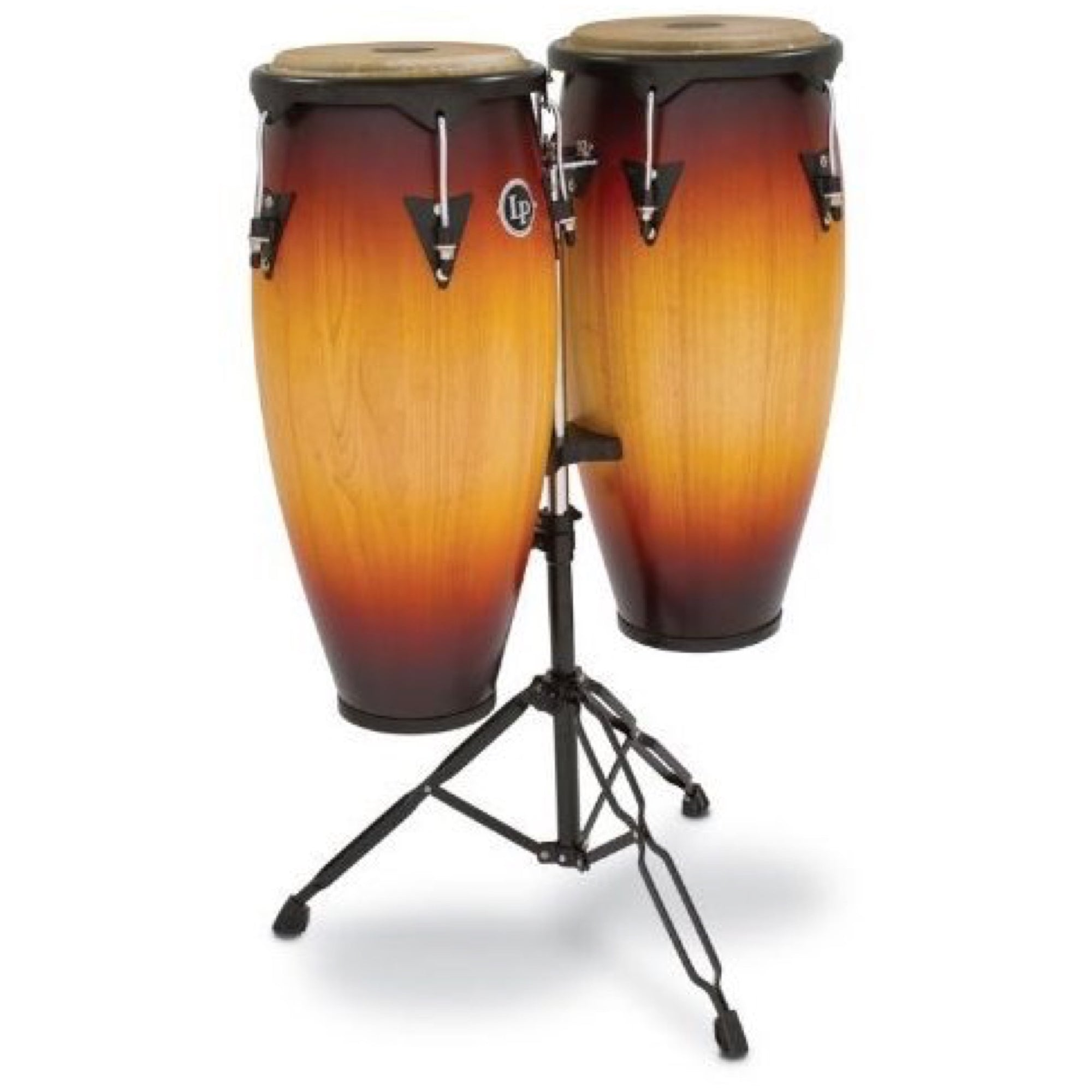 Latin Percussion 646 City Series Congas, Vintage Sunburst, 10 Inch and 11 Inch