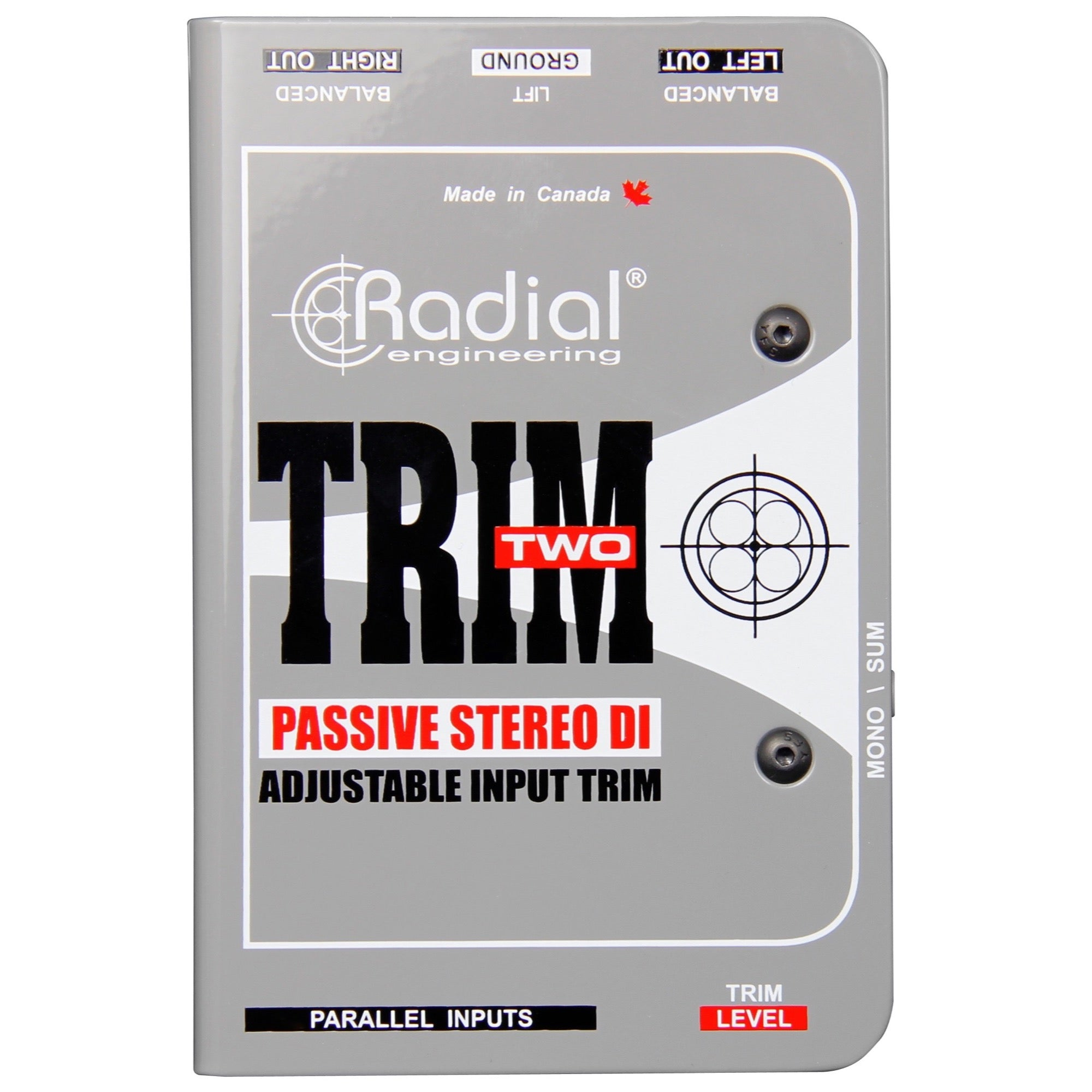 Radial Trim Two Passive DI Direct Box