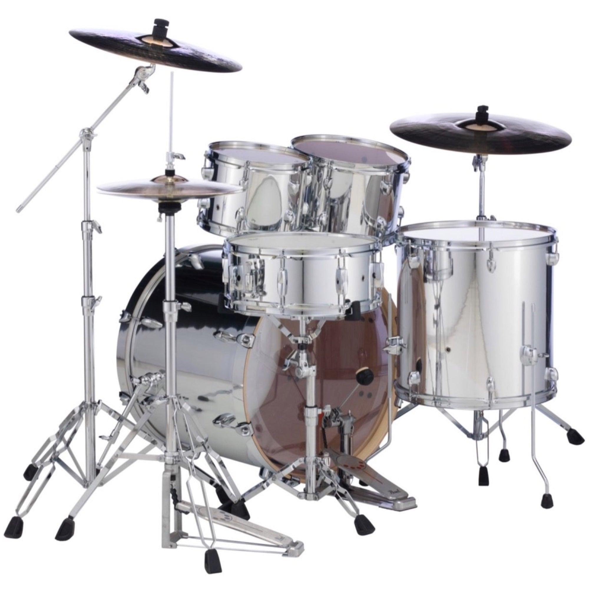 Pearl EX725SPC Export Drum Kit, 5-Piece, Limited Edition Mirror Chrome