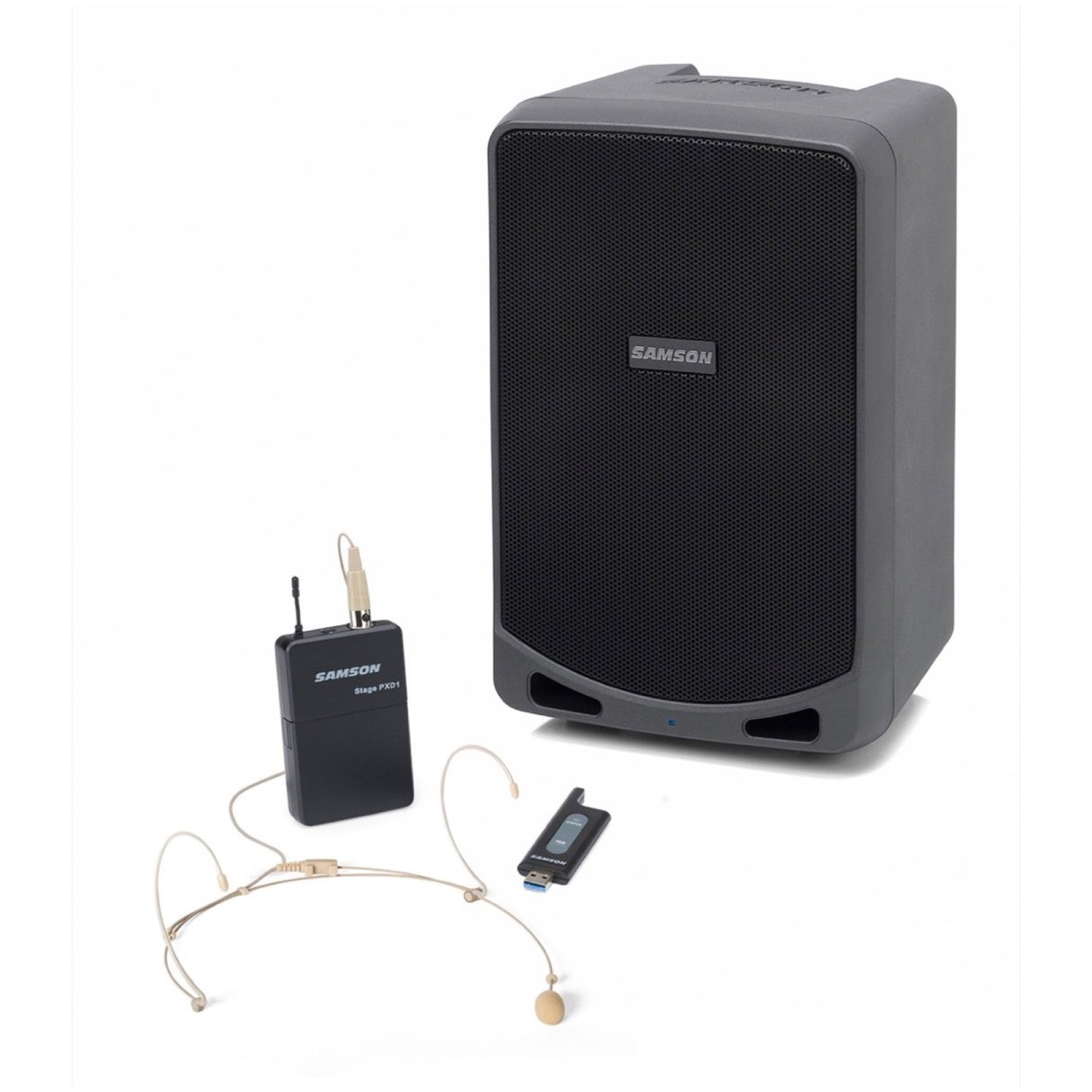 Samson Expedition XP106wde Rechargeable Portable Bluetooth PA System with Wireless Headset Mic