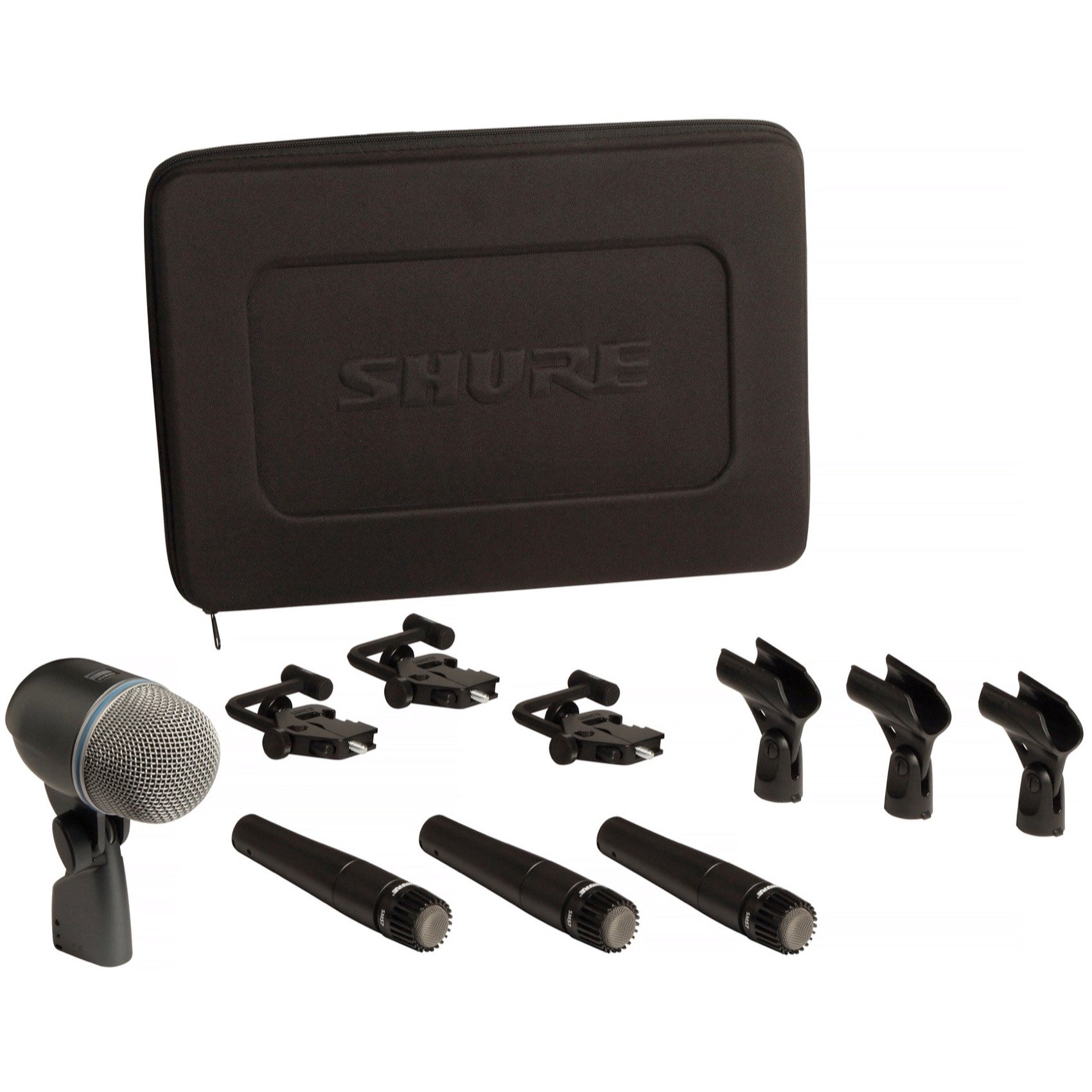 Shure DMK57-52 Drum Microphone Package (3 x SM57, 1 x Beta52, Case, Drum Mounts)