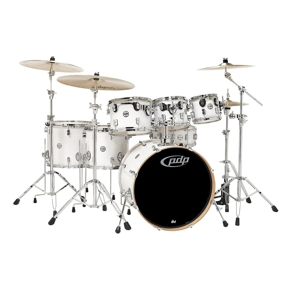 Pacific Drums Concept Maple Drum Shell Kit, 7-Piece, Pearl White