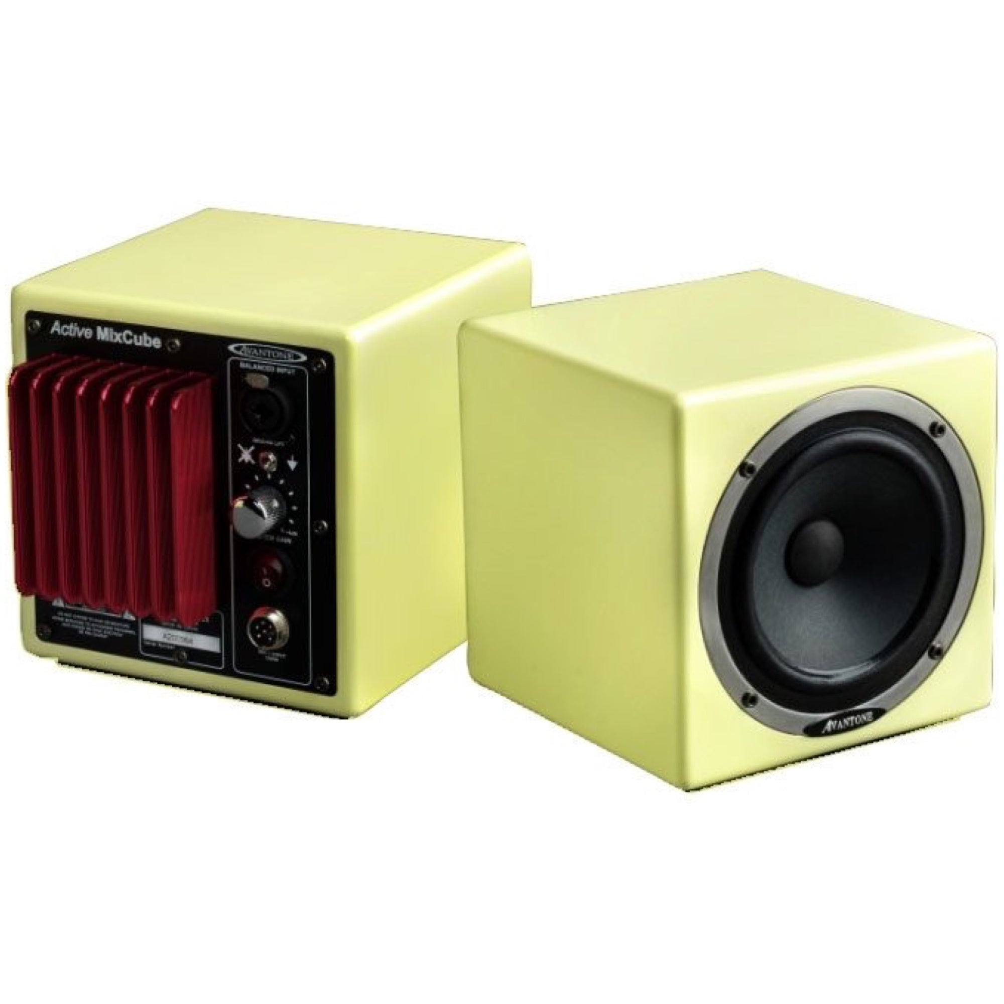 Avantone MixCubes Active Studio Monitor (60 Watts, 1x5.25 Inch), Retro Cream, Pair