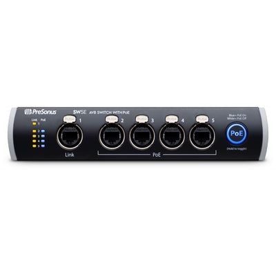 PreSonus SW5E 5-Port AVB Ethernet Switch with PoE