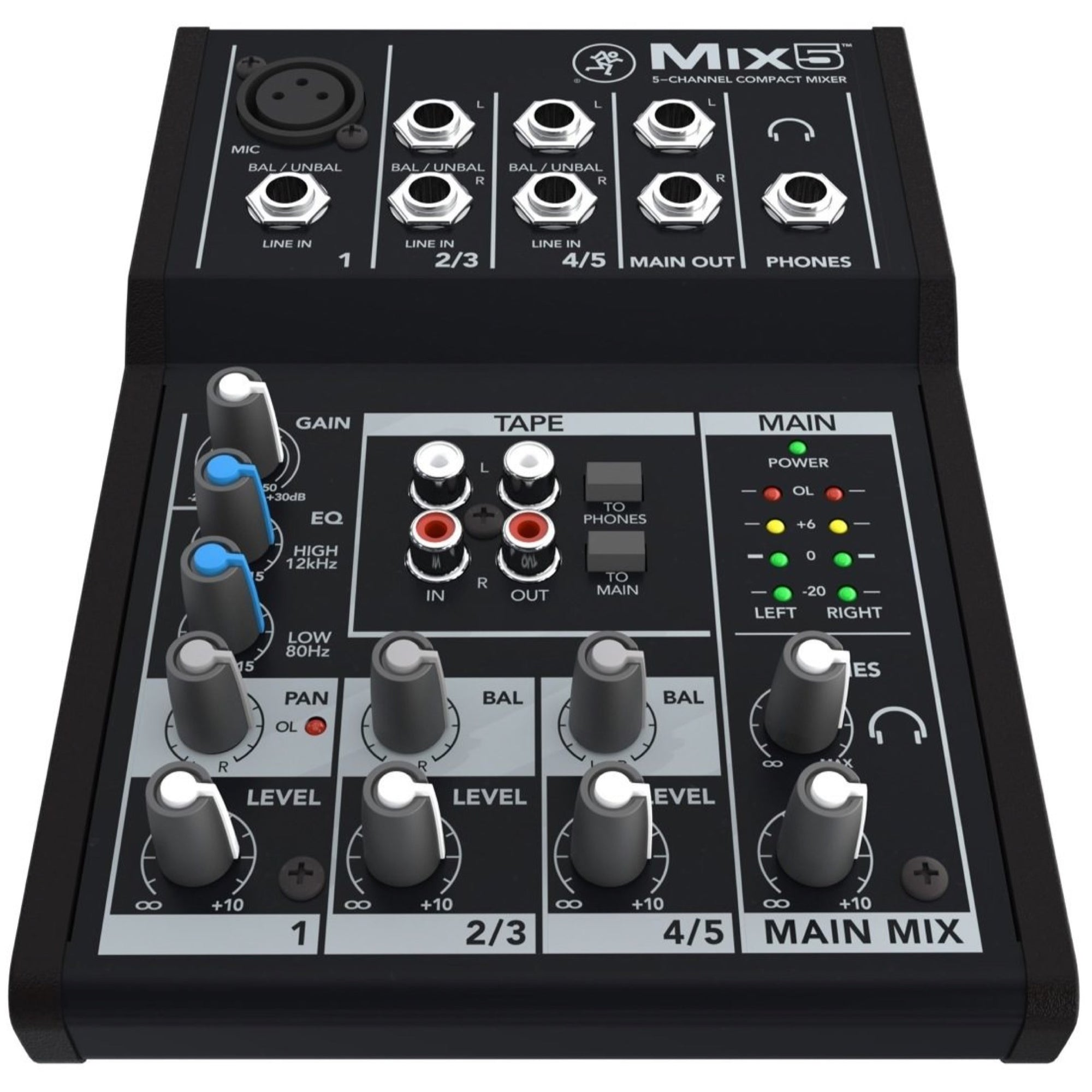 Mackie Mix5 Compact Mixer, 5-Channel