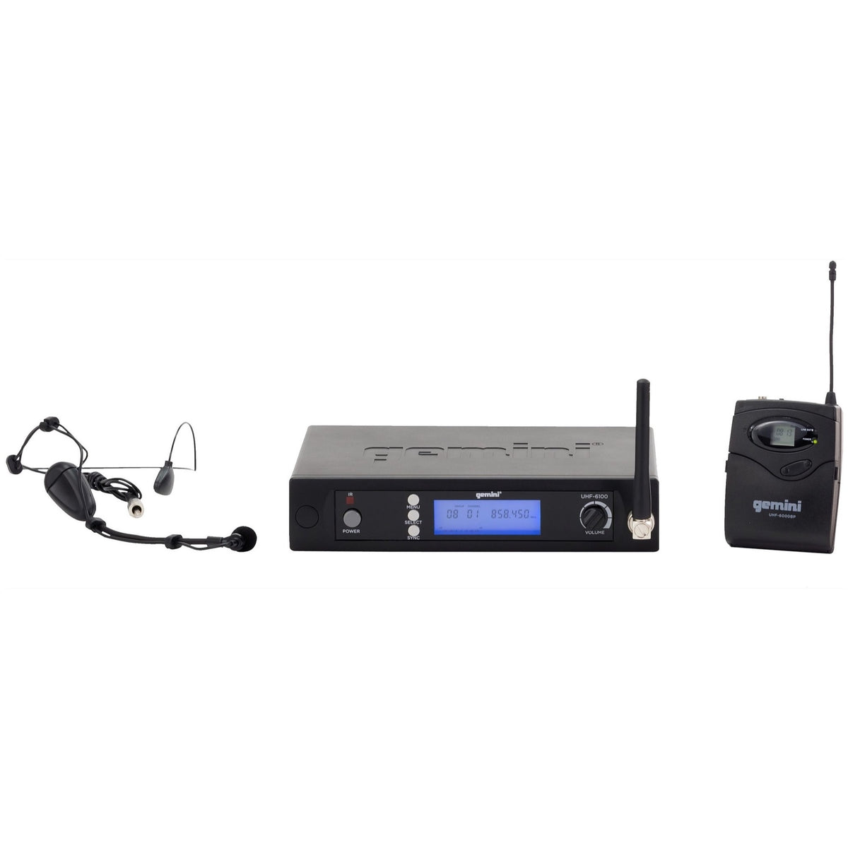Gemini UHF 6100HL Single Wireless Headset Microphone System