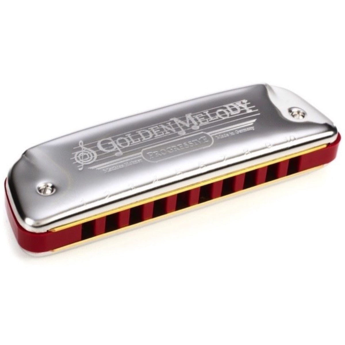 Hohner Golden Melody Diatonic Harmonica, 542PBX-E, Key of E