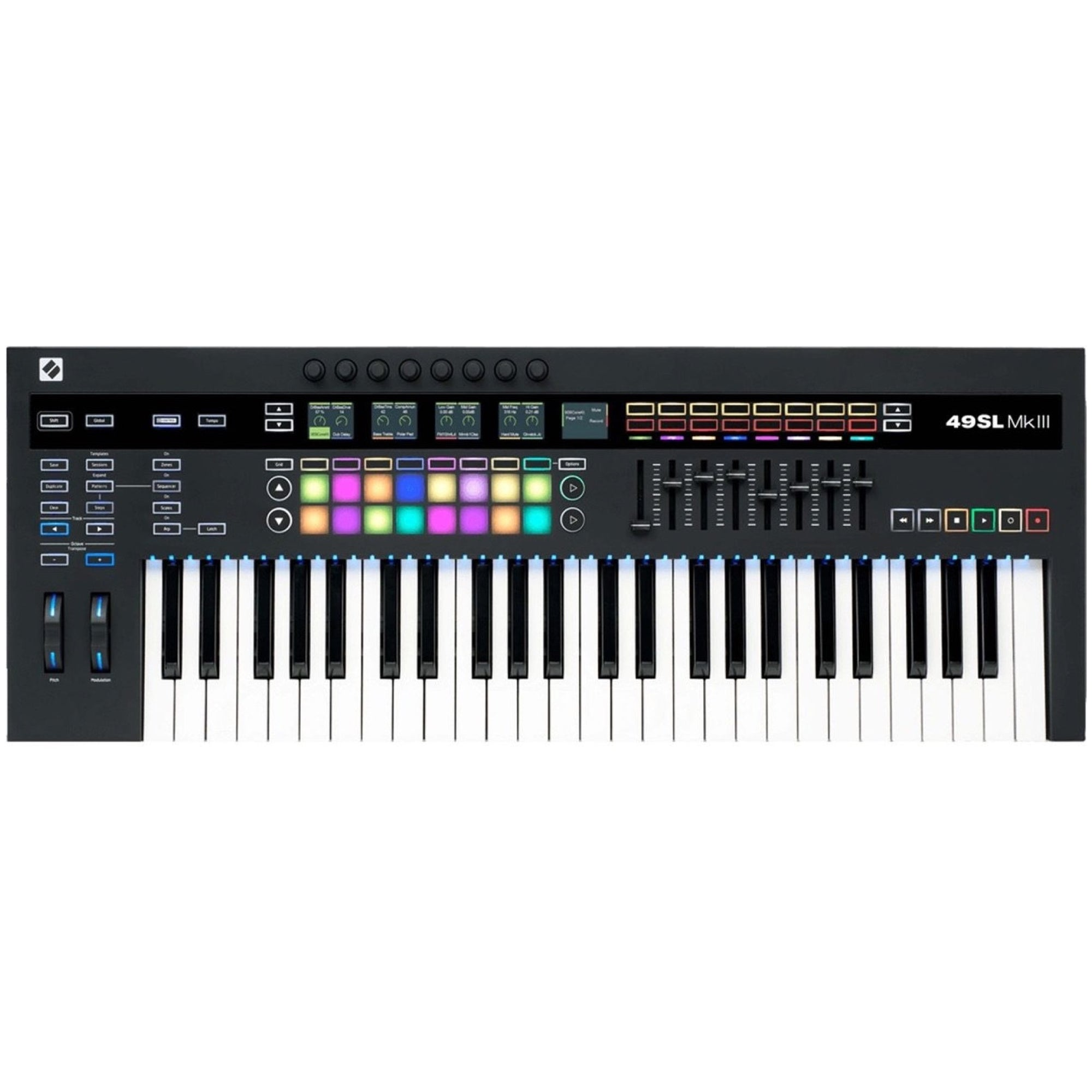 Novation 49 SL MK3 USB MIDI Keyboard Controller, 49-Key