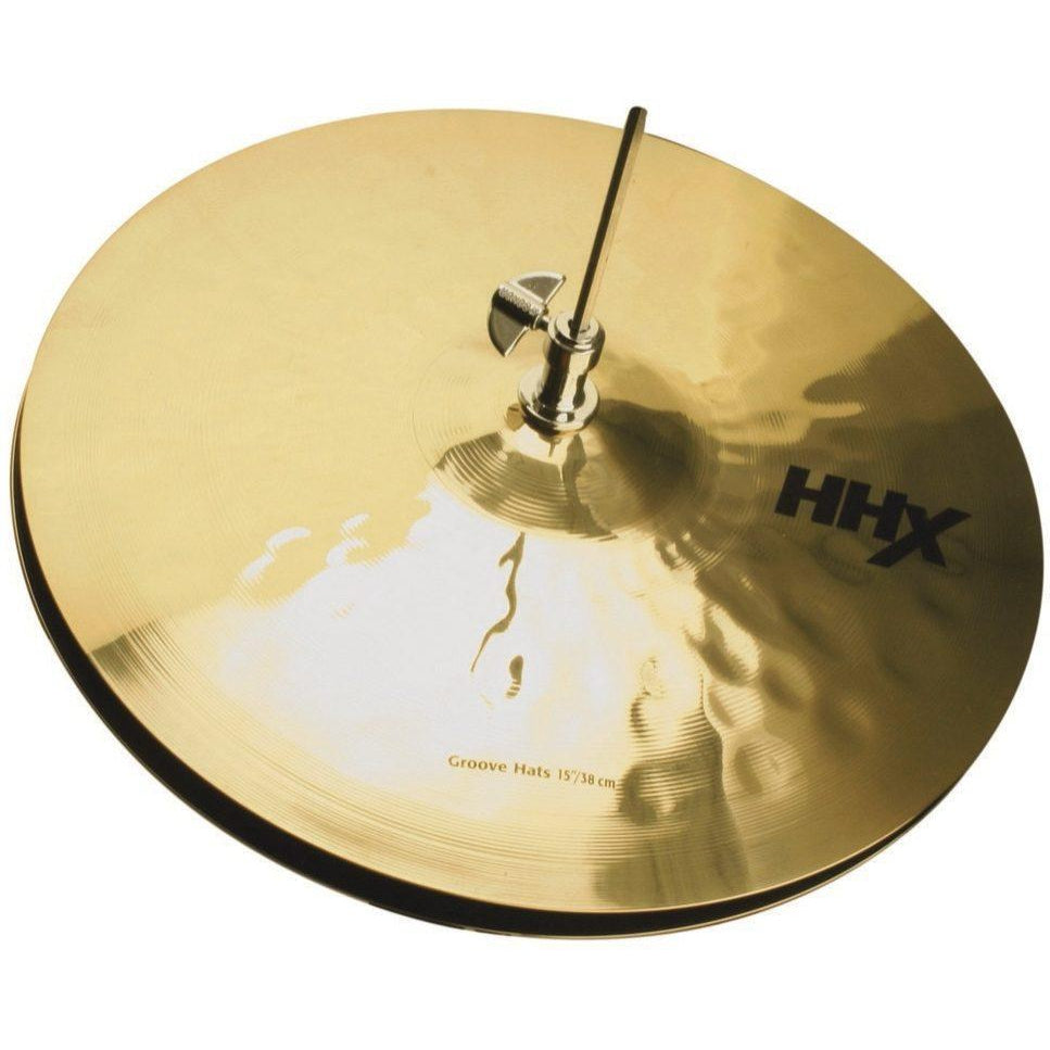 Sabian HHX Groove Hi-Hat Cymbals, Brilliant Finish, Pair, 14 Inch