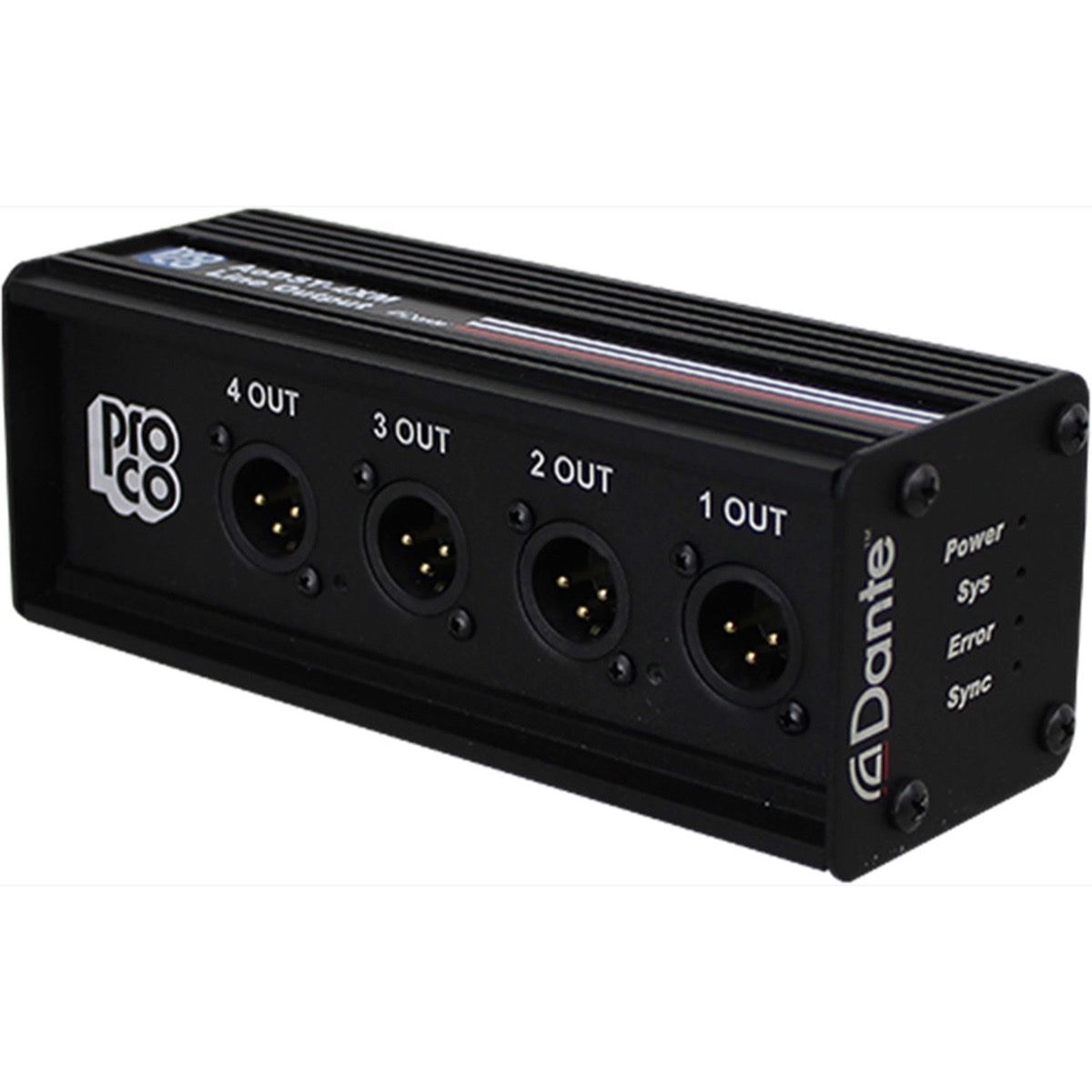Pro Co AODST-4XM Dante 4-Channel Output Box
