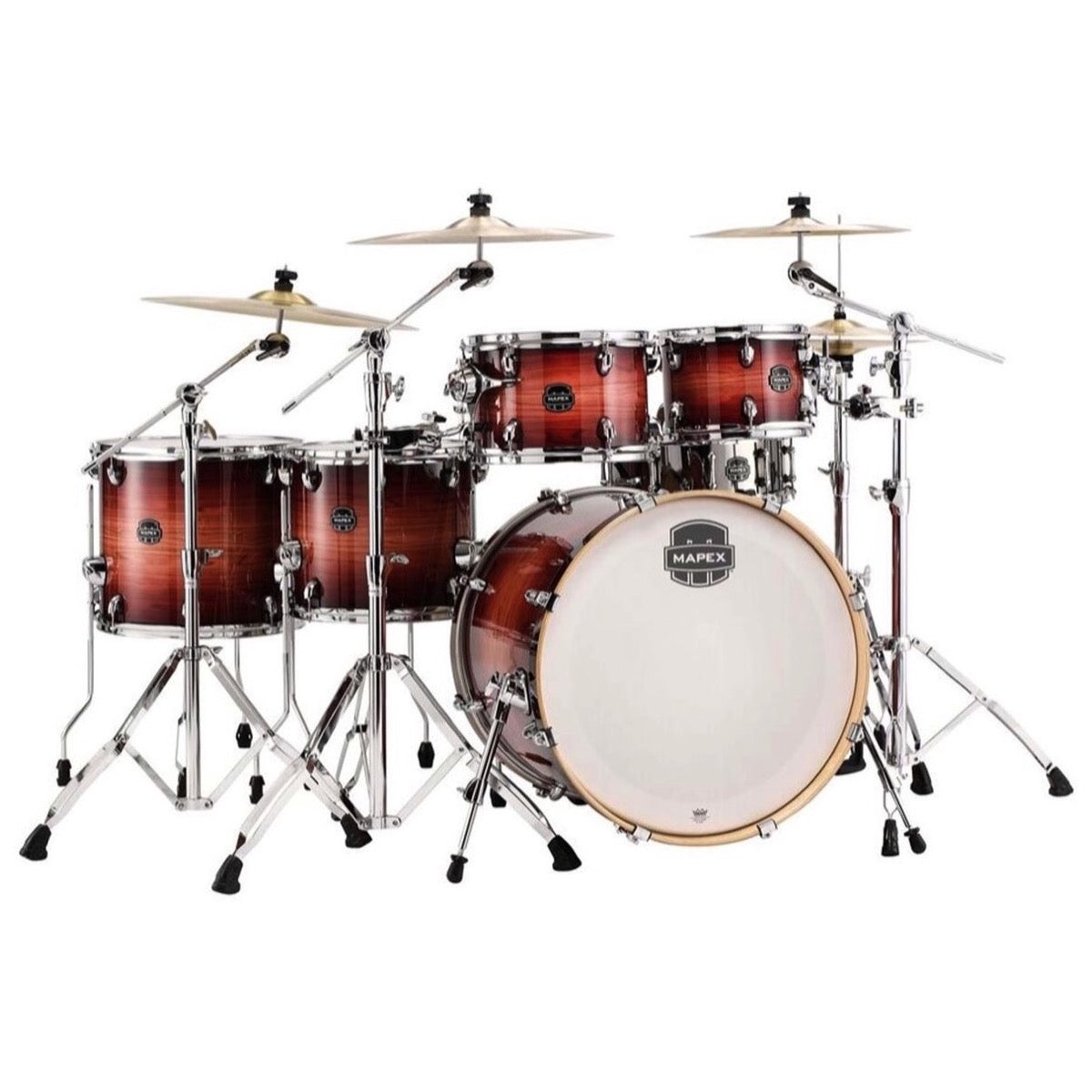Mapex Armory Studioease Fast Drum Shell Kit, 6-Piece, Redwood Burst