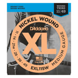 Load image into Gallery viewer, D'Addario EXL115W XL Electric Guitar Strings (Blues/Jazz Rock, Wound Third, 11-49)