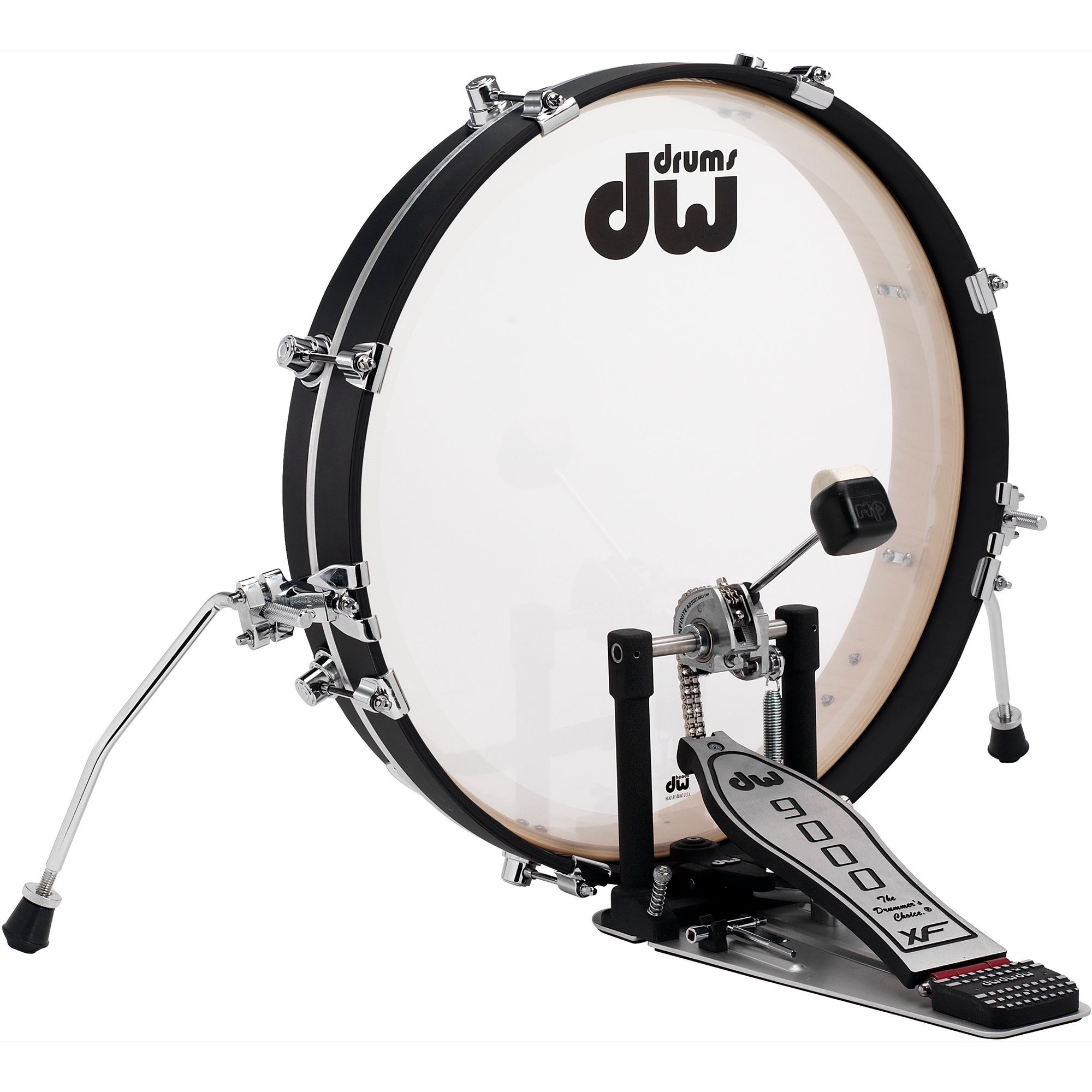 Drum Workshop Design Series Pancake Bass Drum, Black, 20 Inch