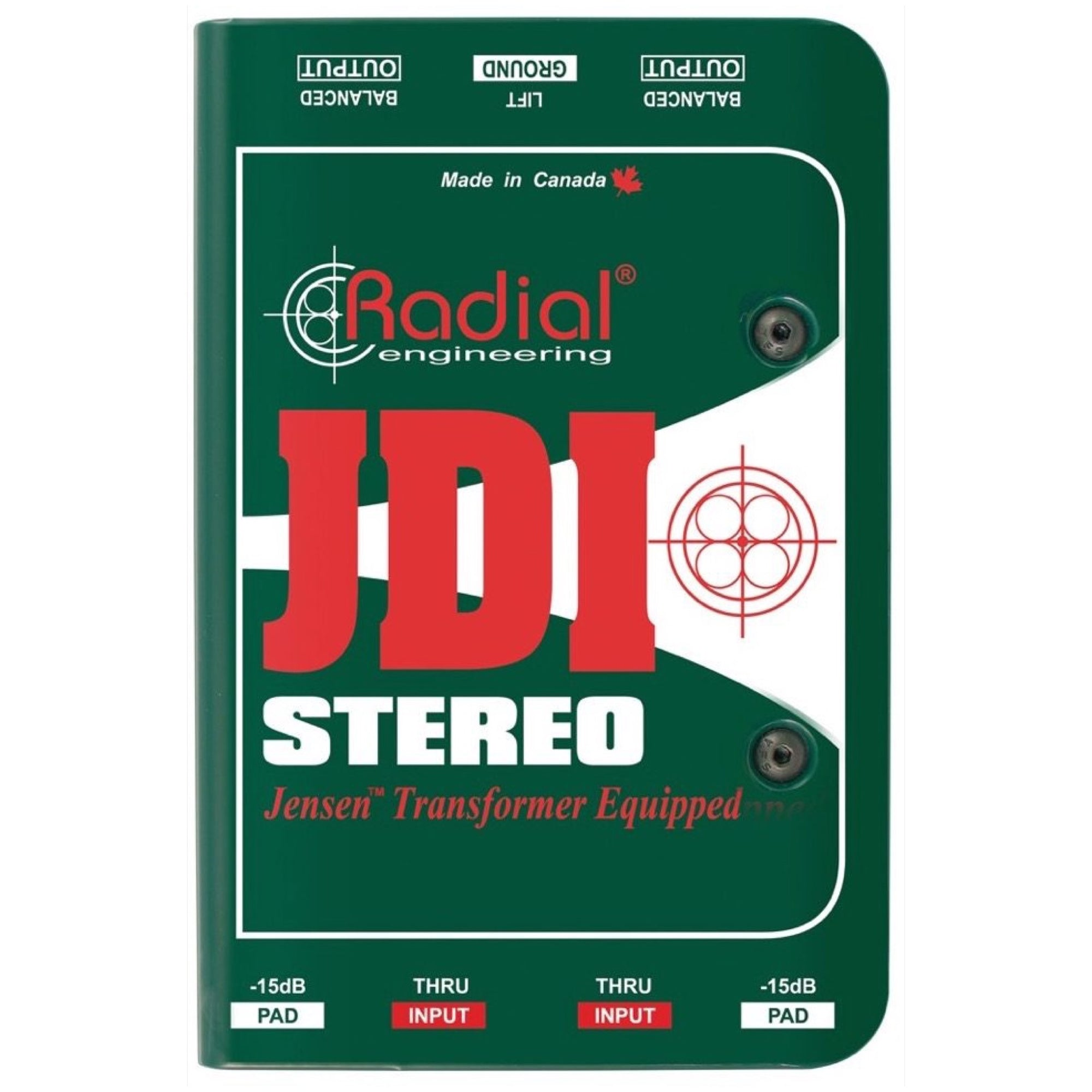 Radial JDI Stereo Passive DI Direct Box