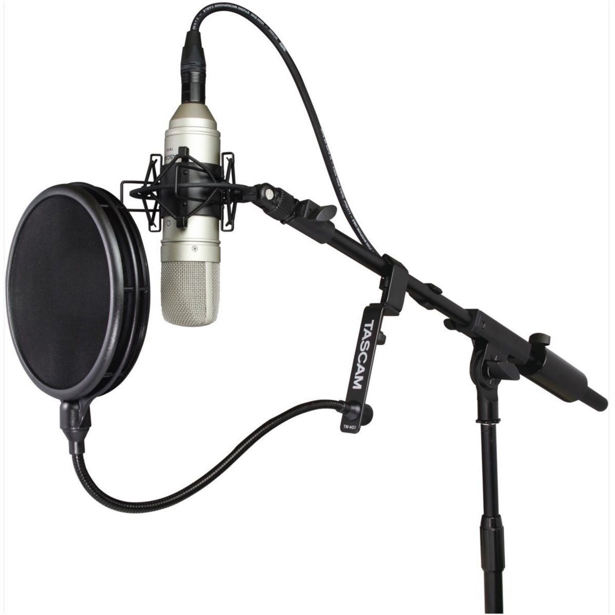 Tascam TM-AG1 Dual-Screen Microphone Pop Filter